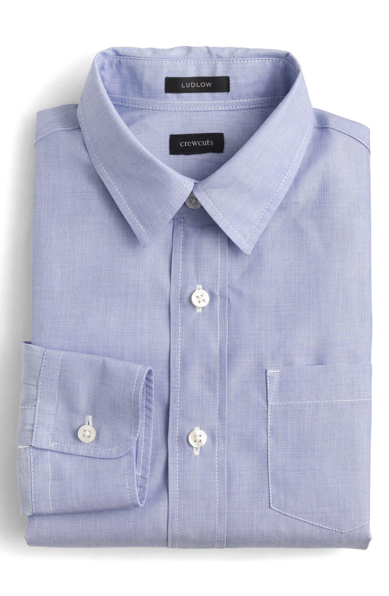 Ludlow Dress Shirt,                         Main,                         color, Fairweather Blue Bl7786