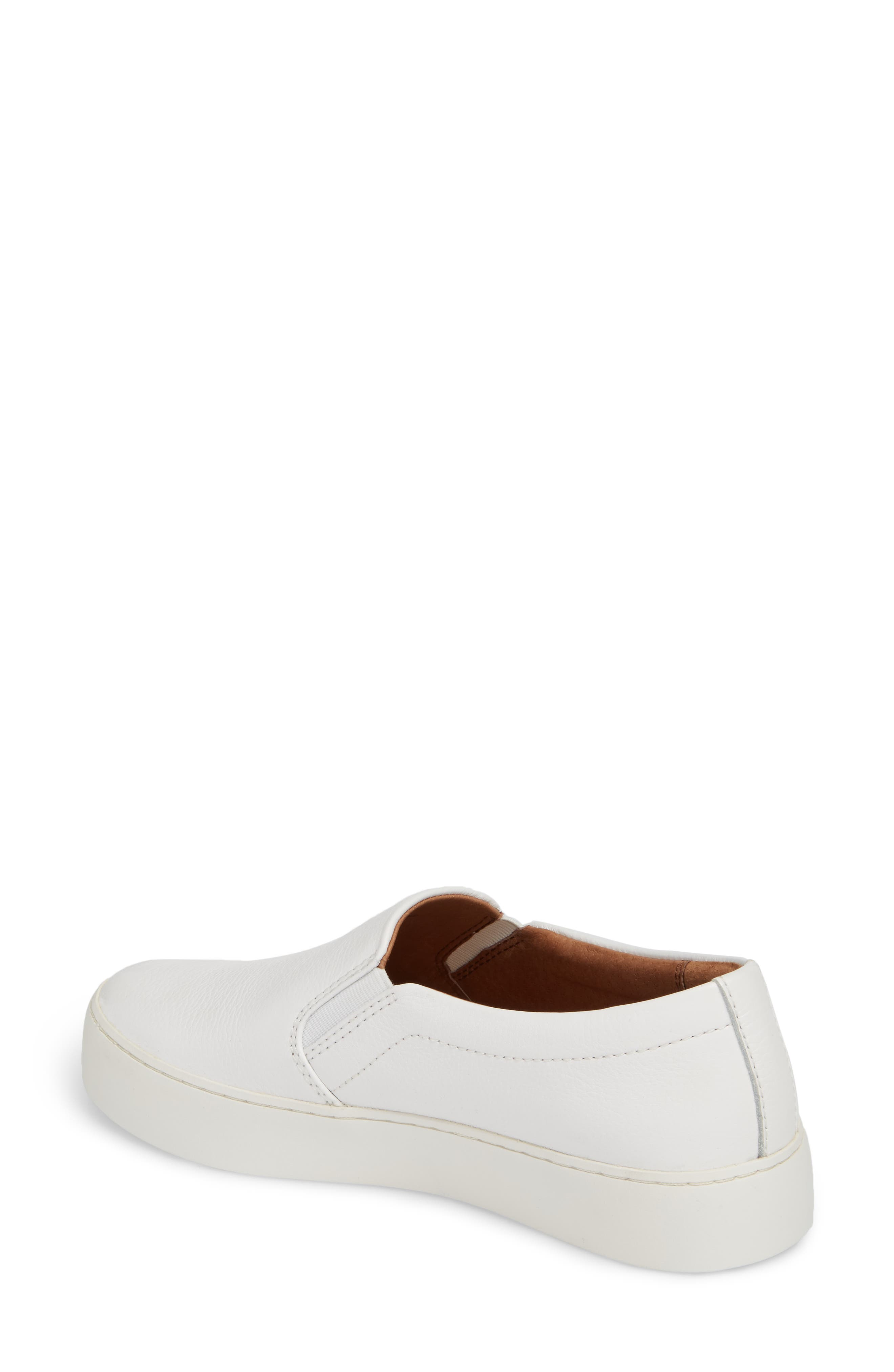 Lena Slip-On Sneaker,                             Alternate thumbnail 2, color,                             White Leather