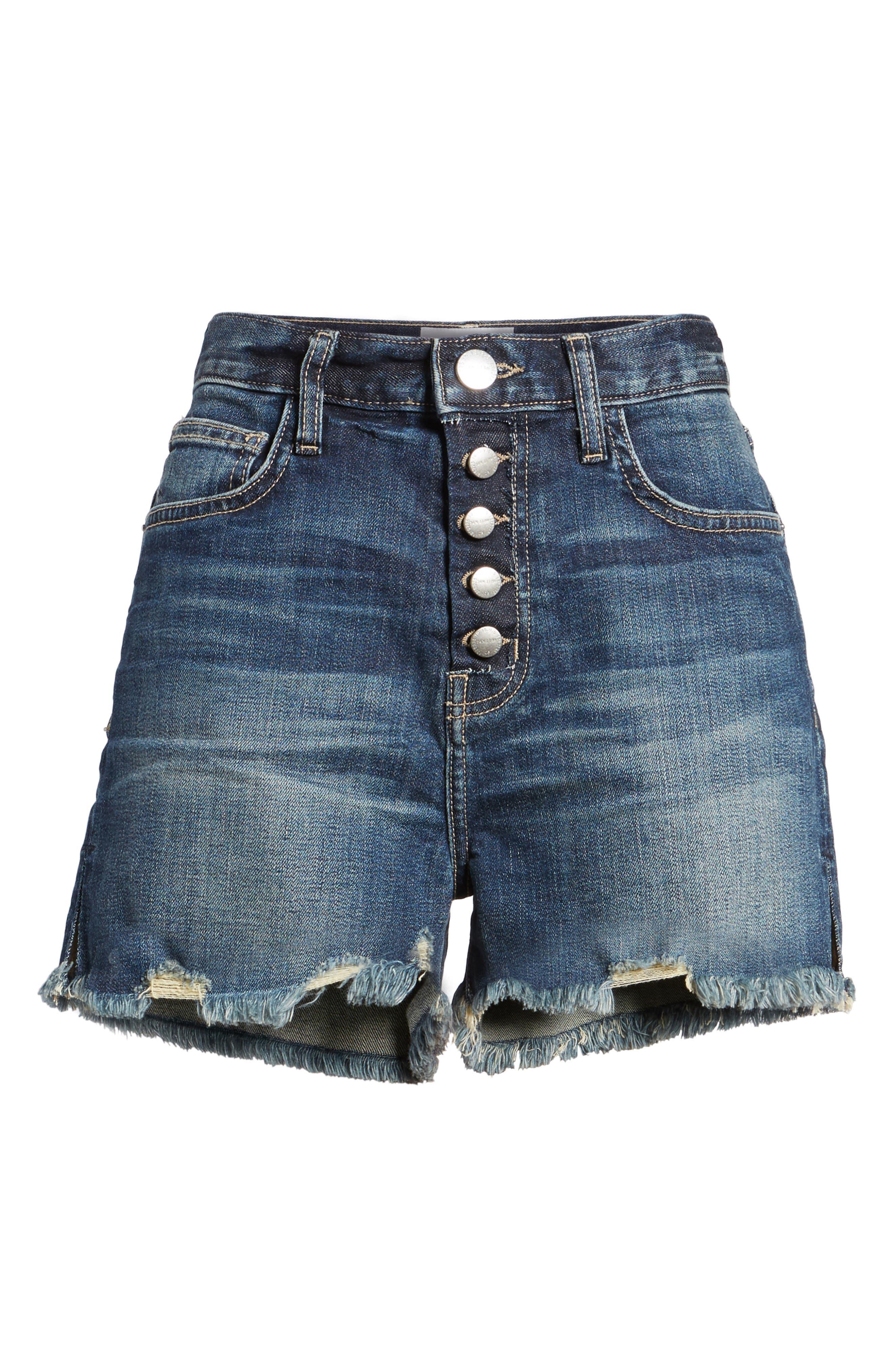 The Ultra High Waist Cutoff Denim Shorts,                             Alternate thumbnail 6, color,                             Belloc