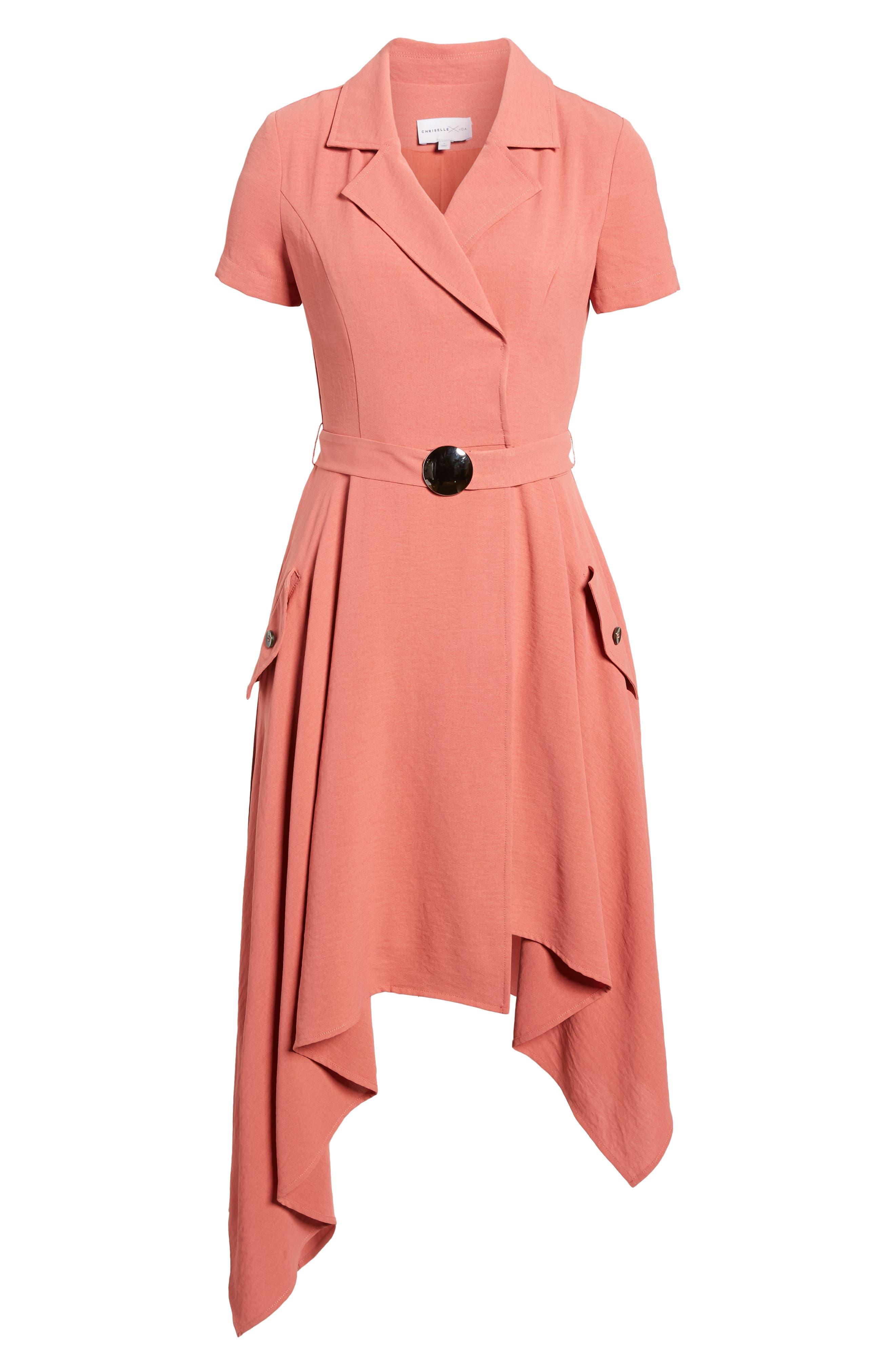 Chriselle x J.O.A. Asymmetrical Trench Dress,                             Alternate thumbnail 8, color,                             Patina