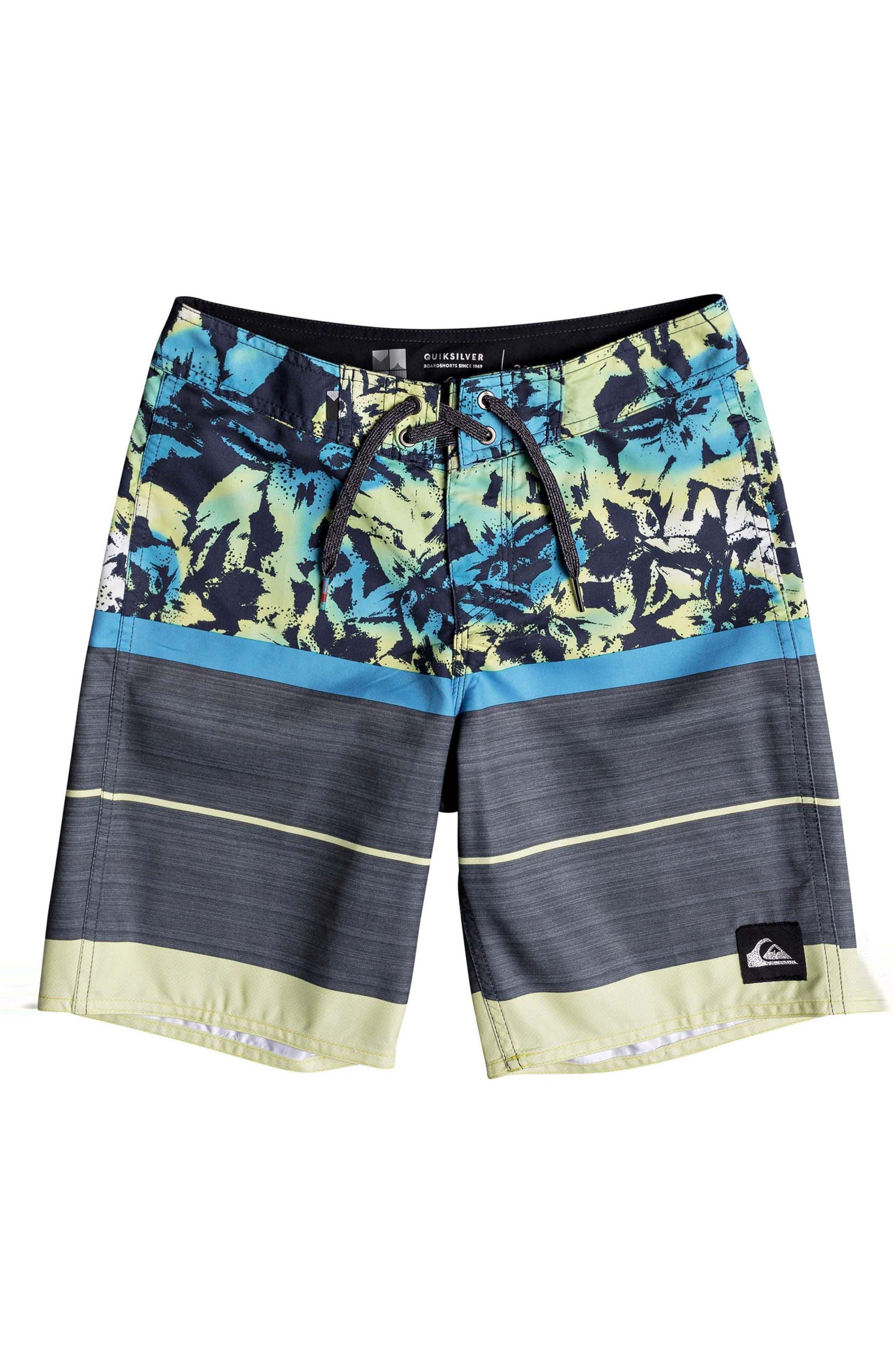 Slab Island Board Shorts,                         Main,                         color, Cyan Blue