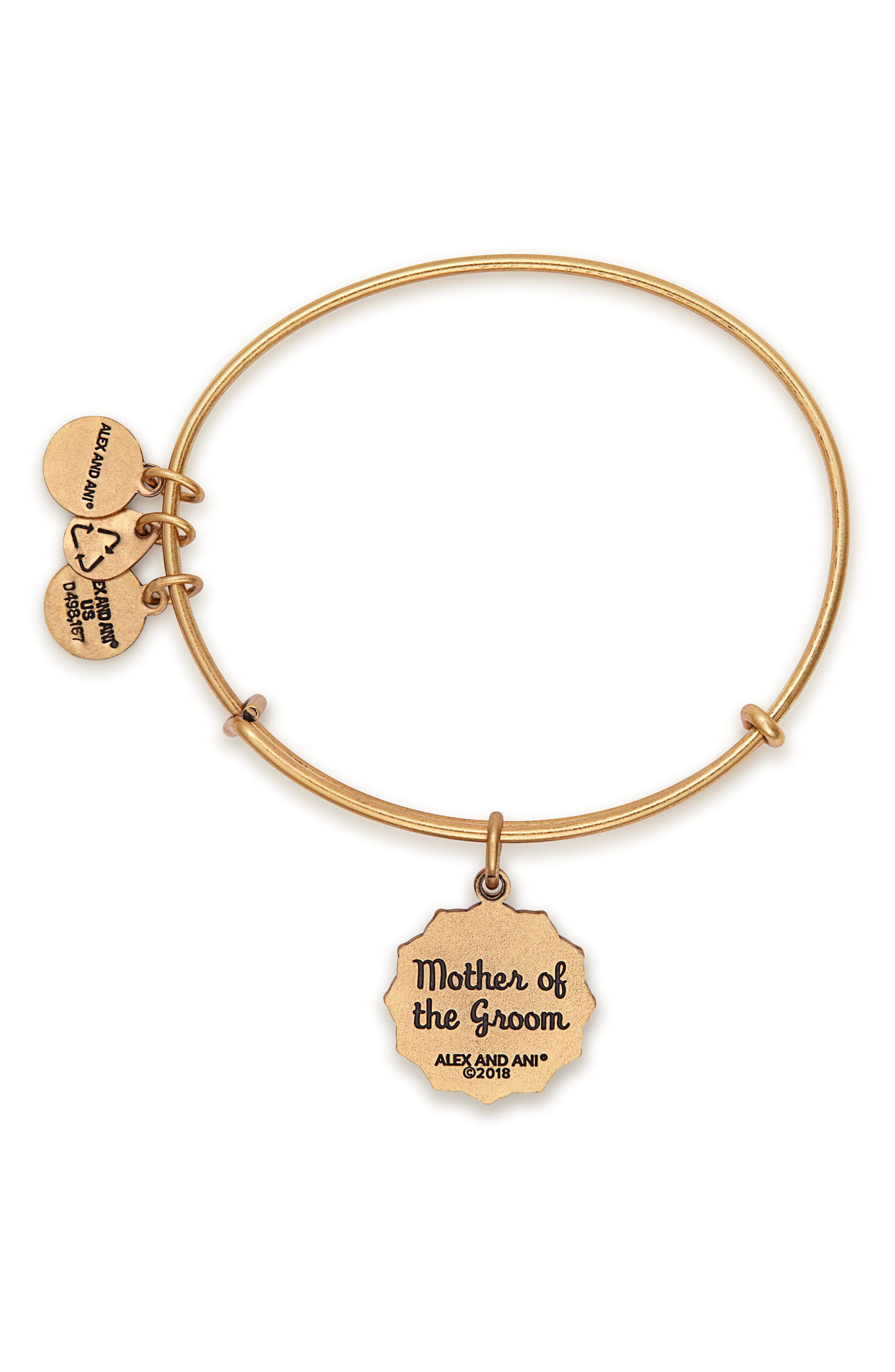 Mother of the Groom Charm Bangle,                             Alternate thumbnail 2, color,                             Gold