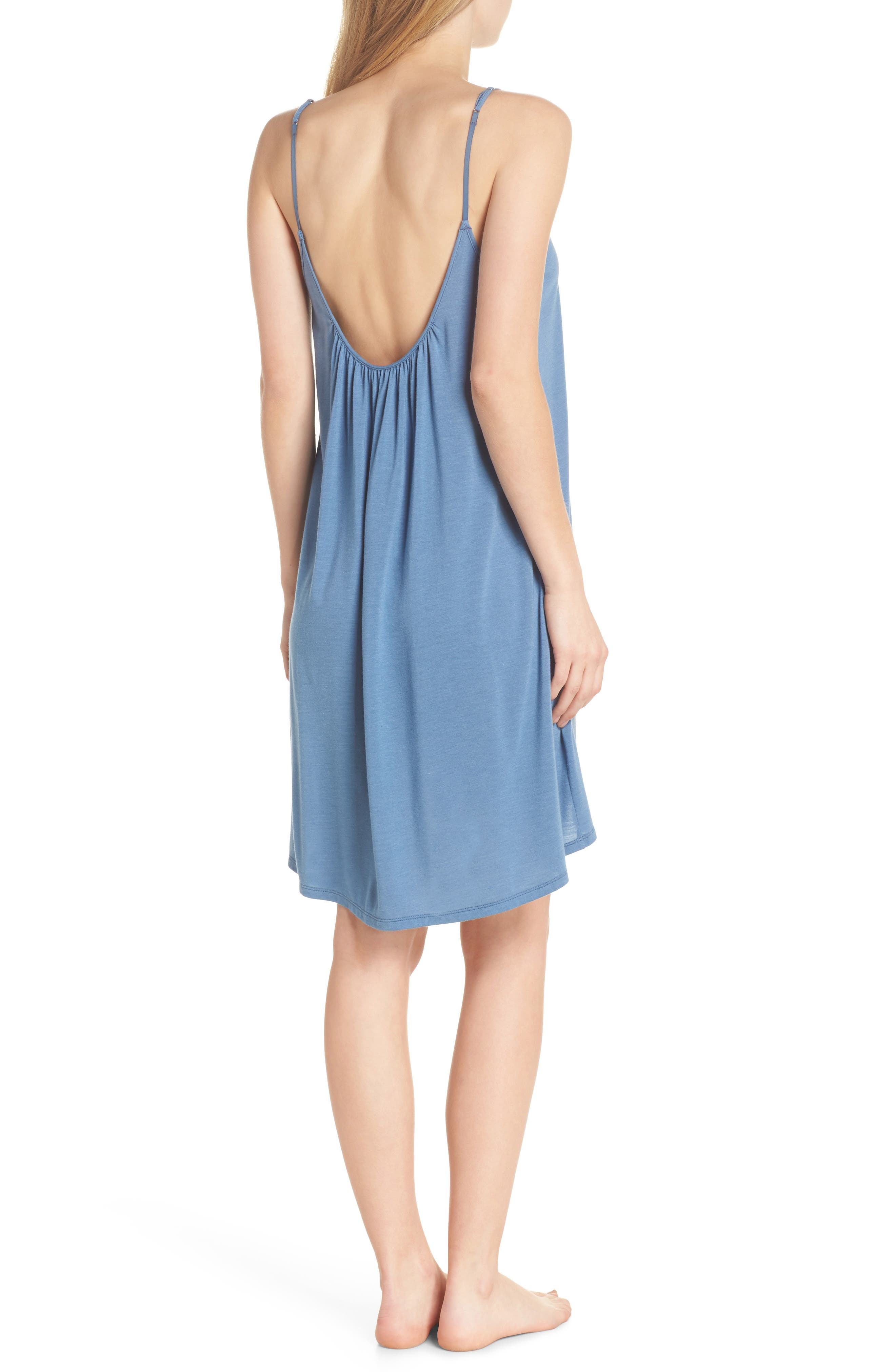 Heather Tees Chemise,                             Alternate thumbnail 2, color,                             Bsq Ht Blue Shadow