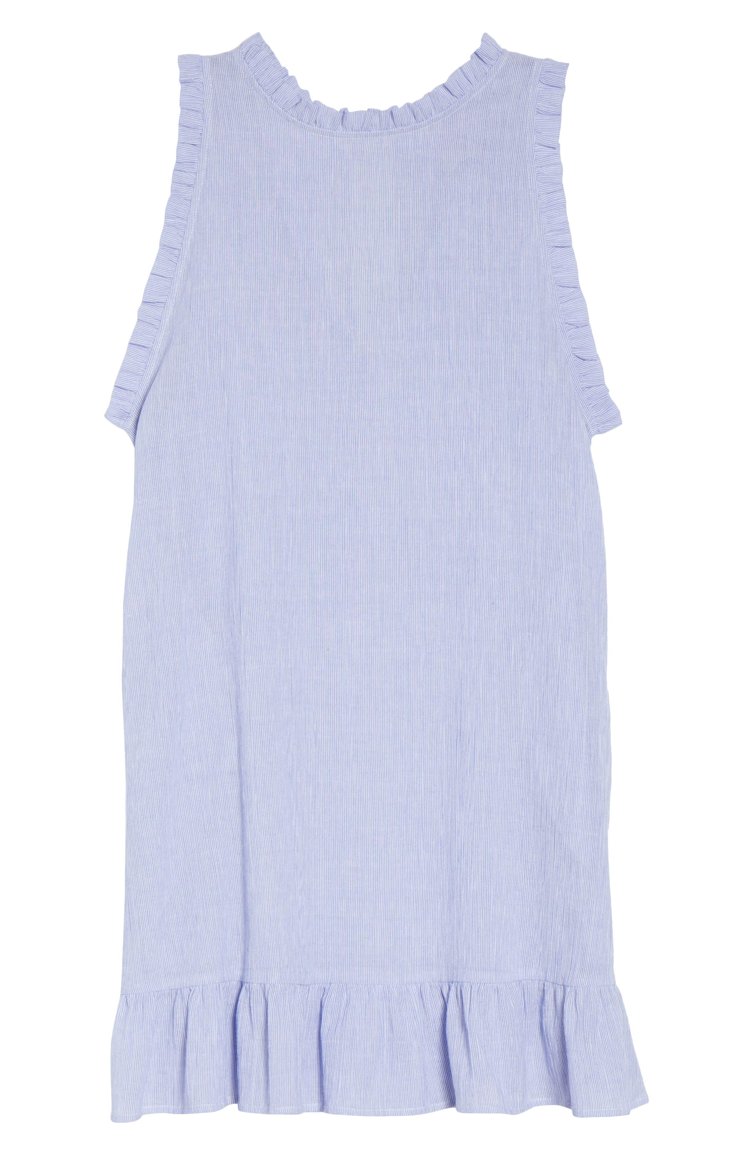 Heidi Cover-Up Dress,                             Alternate thumbnail 6, color,                             Blue/ White