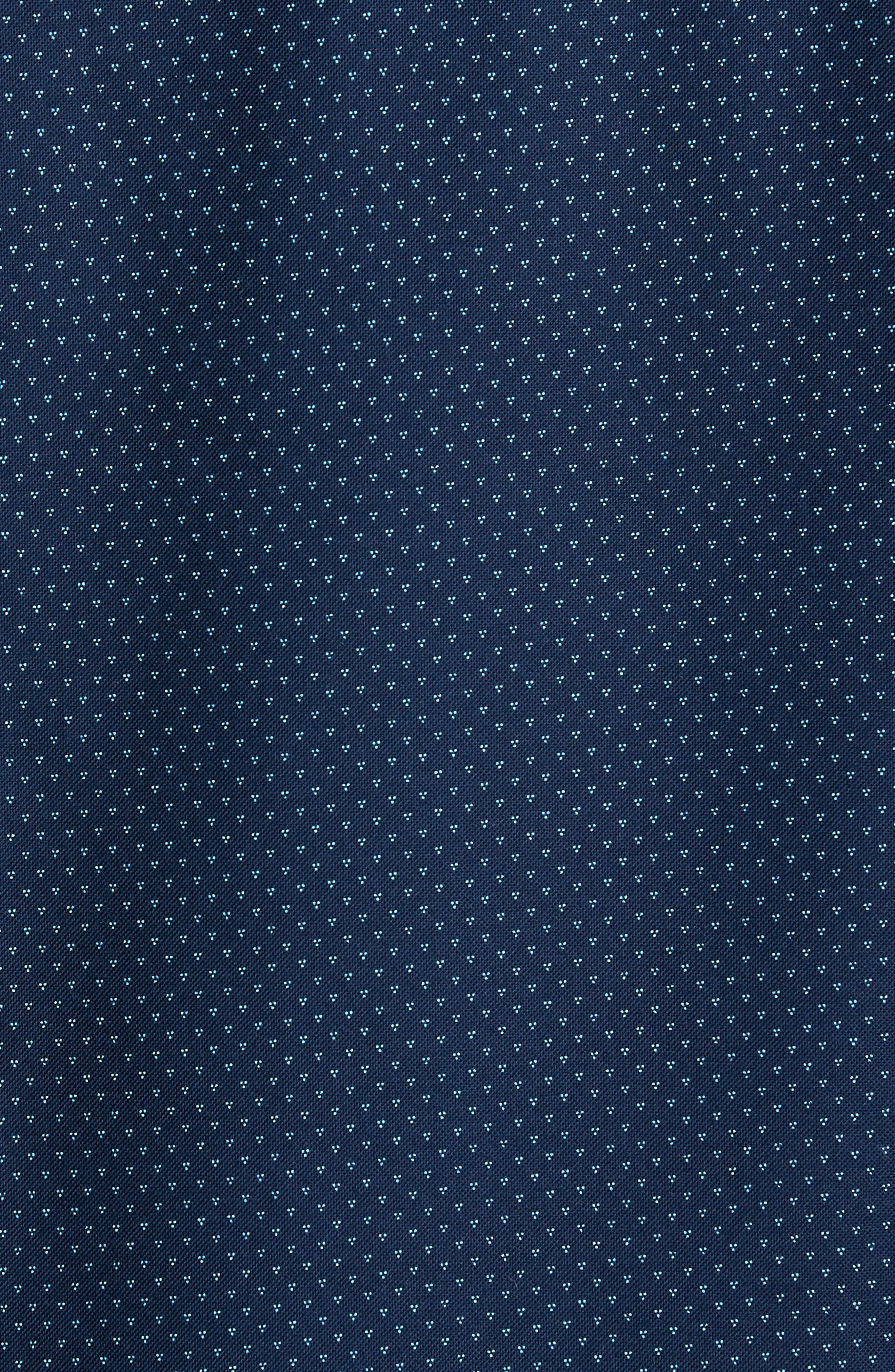 Trim Fit Print Washed Oxford Sport Shirt,                             Alternate thumbnail 5, color,                             Navy Night Triple Dot