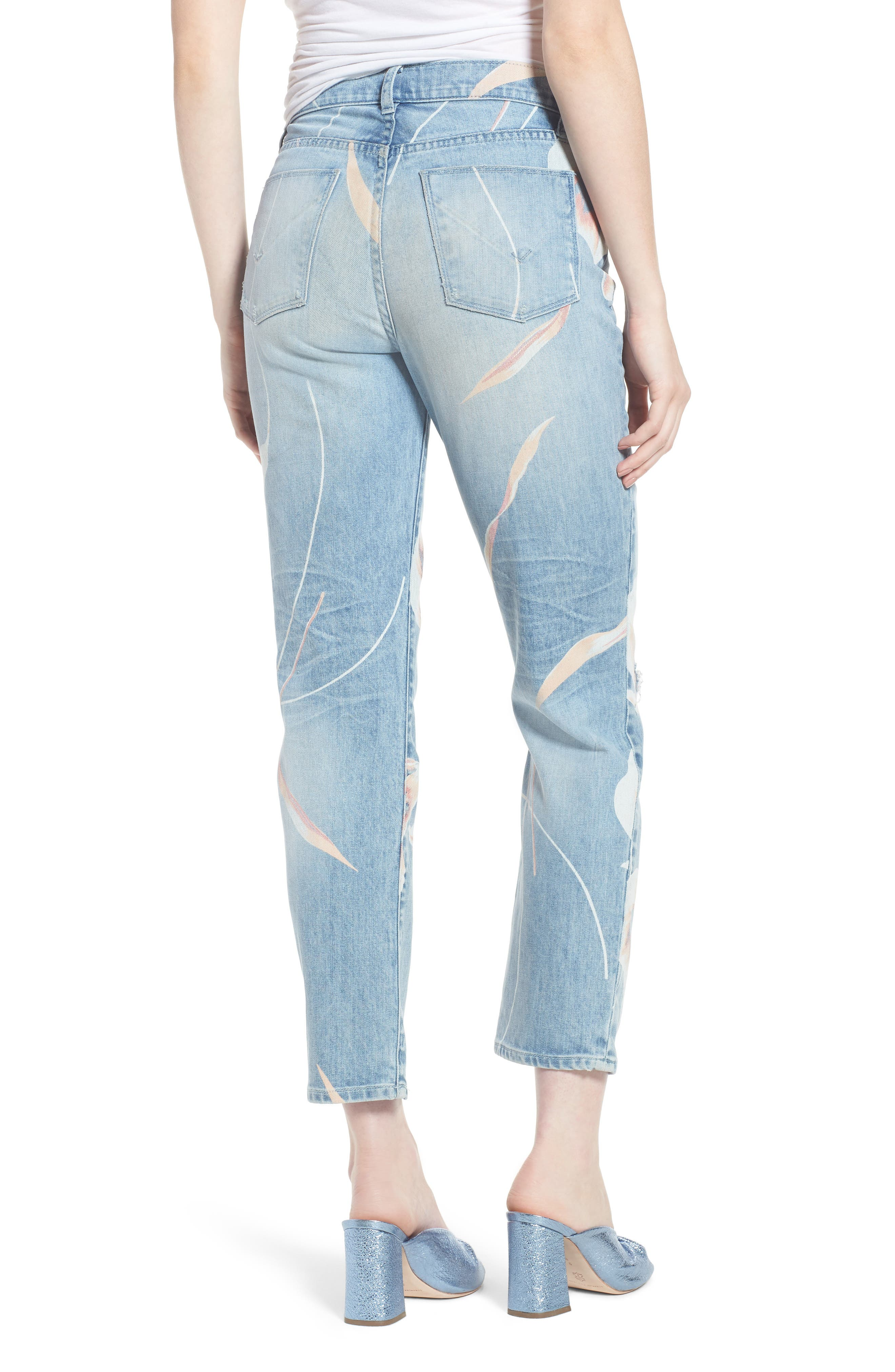 Zoeey High Waist Ankle Straight Leg Jeans,                             Alternate thumbnail 2, color,                             In Bloom
