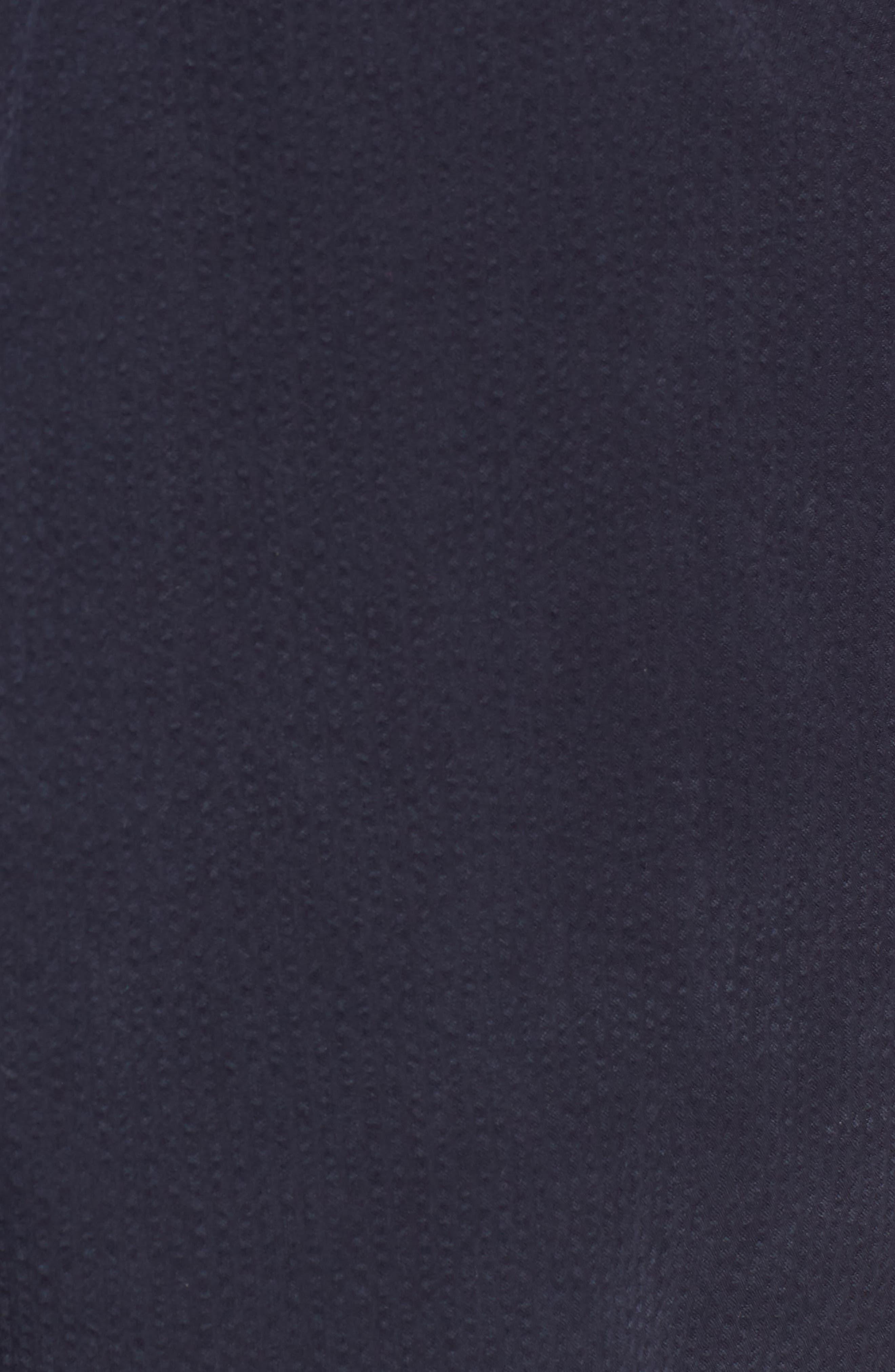 Elastic Waist Seersucker Shorts,                             Alternate thumbnail 5, color,                             Navy Night Seersucker
