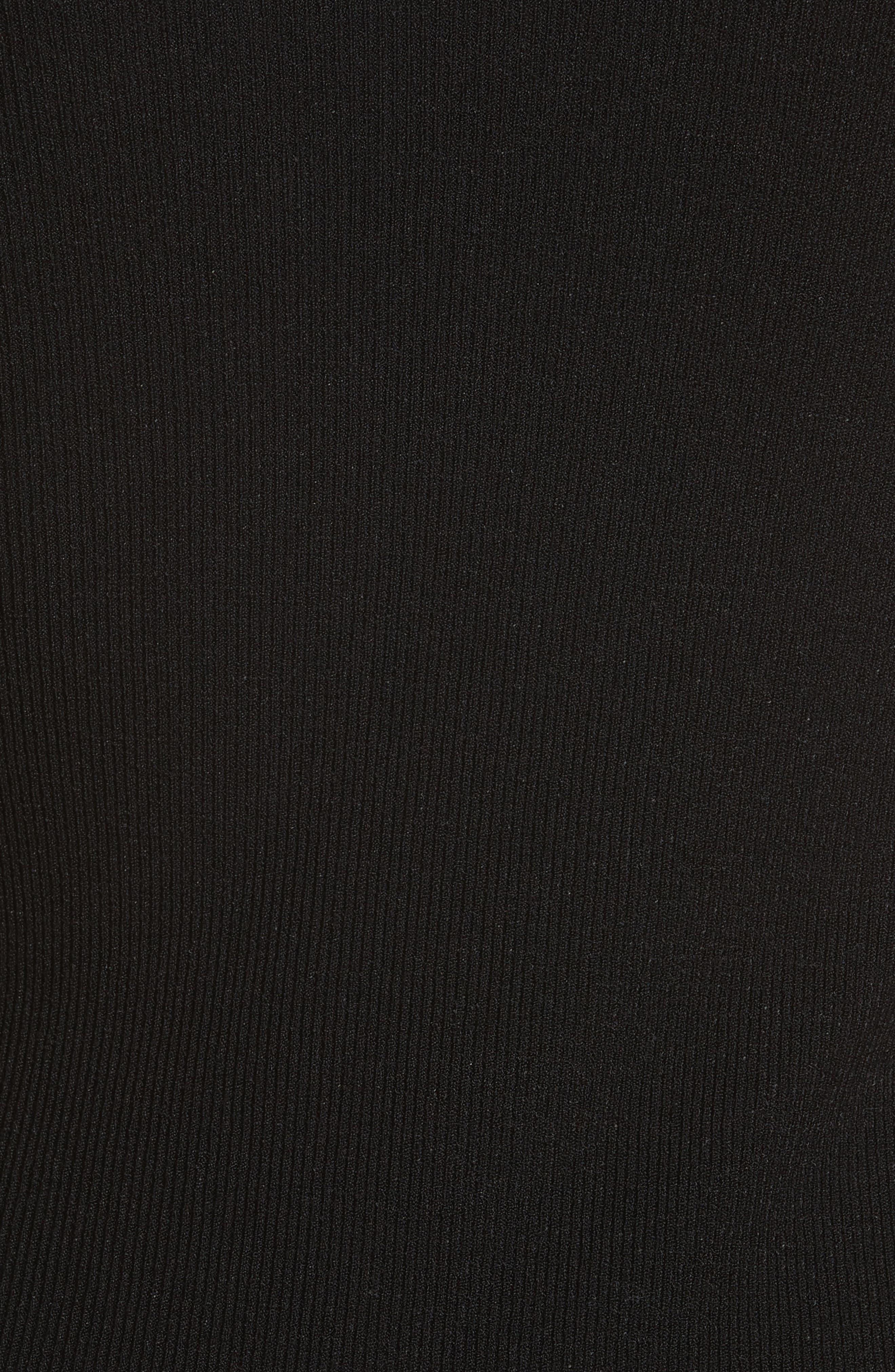 Slash Layered Tank Dress,                             Alternate thumbnail 5, color,                             Black