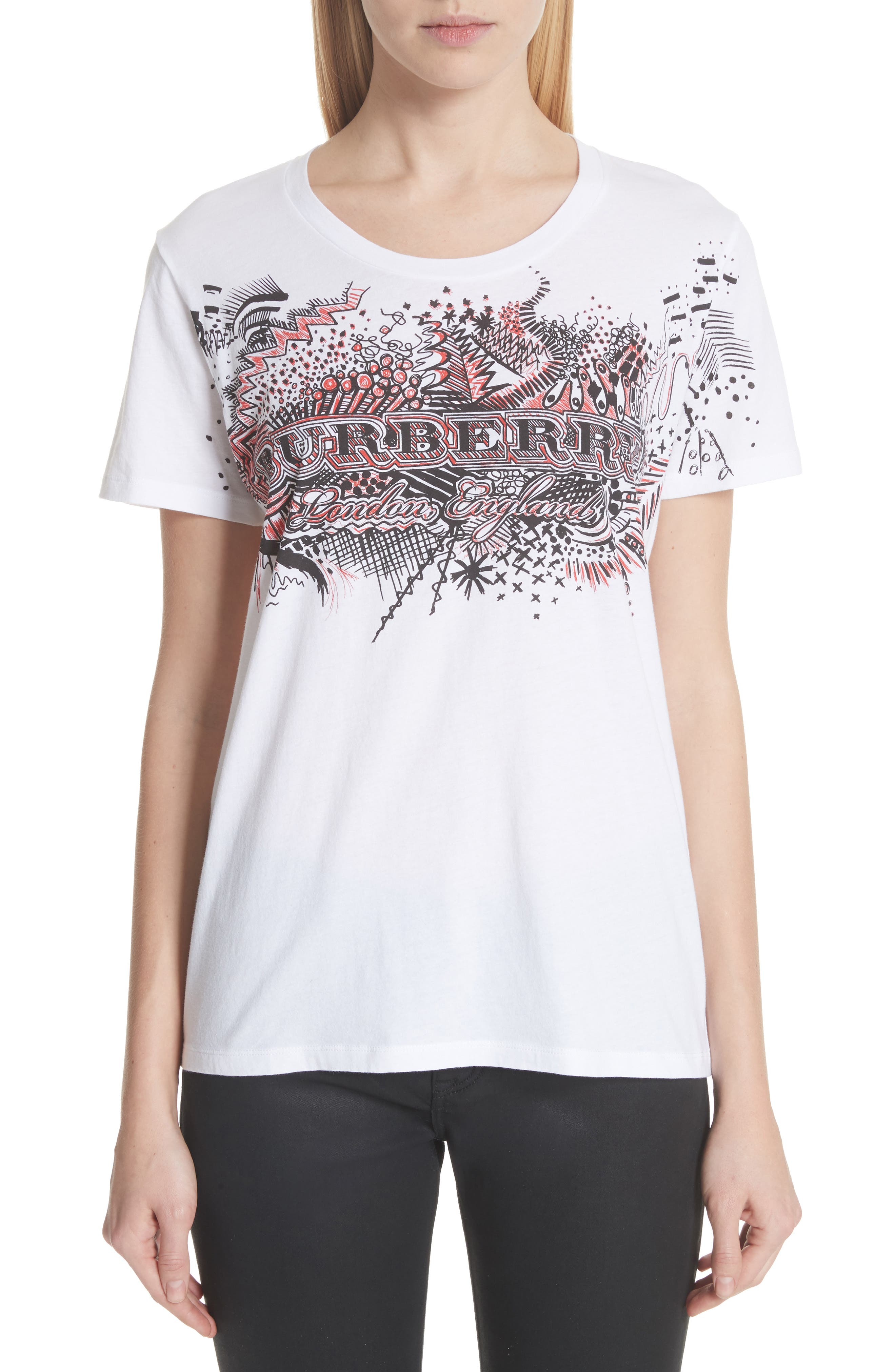 Burberry Doodle Print Cotton Tee