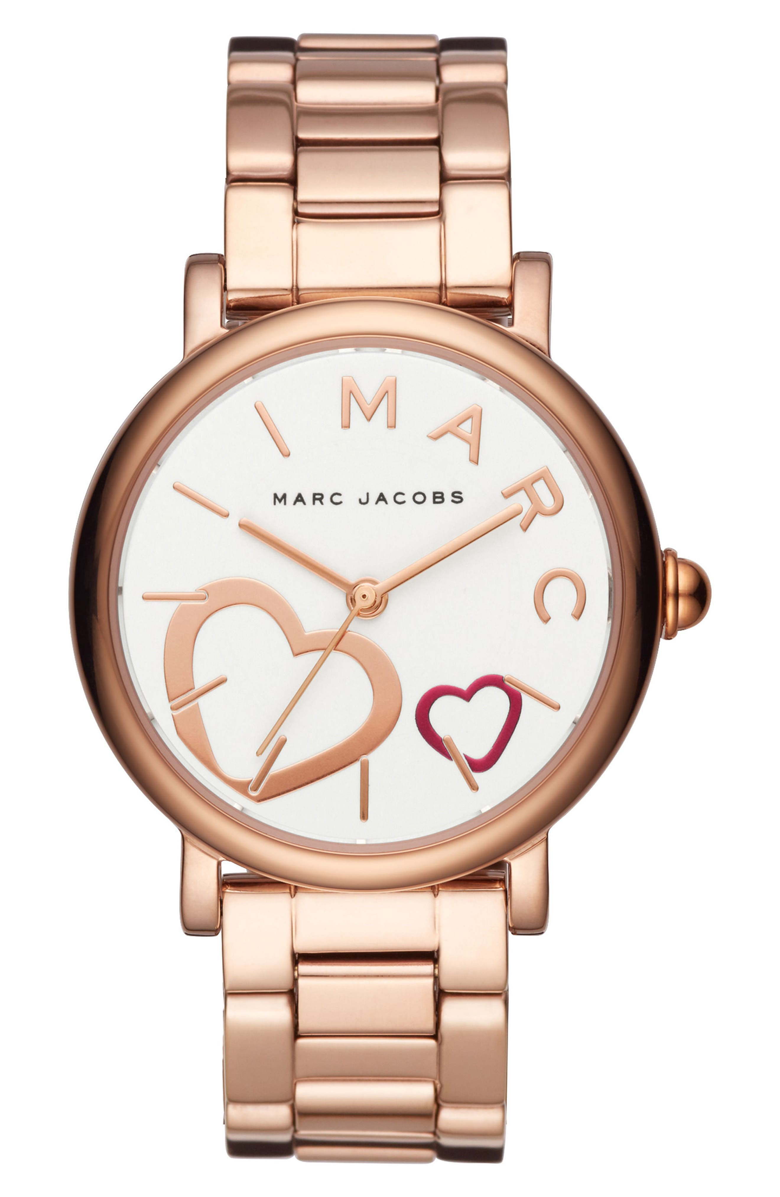 Classic Bracelet Watch, 37mm,                             Main thumbnail 1, color,                             Rose Gold/ White/ Rose Gold