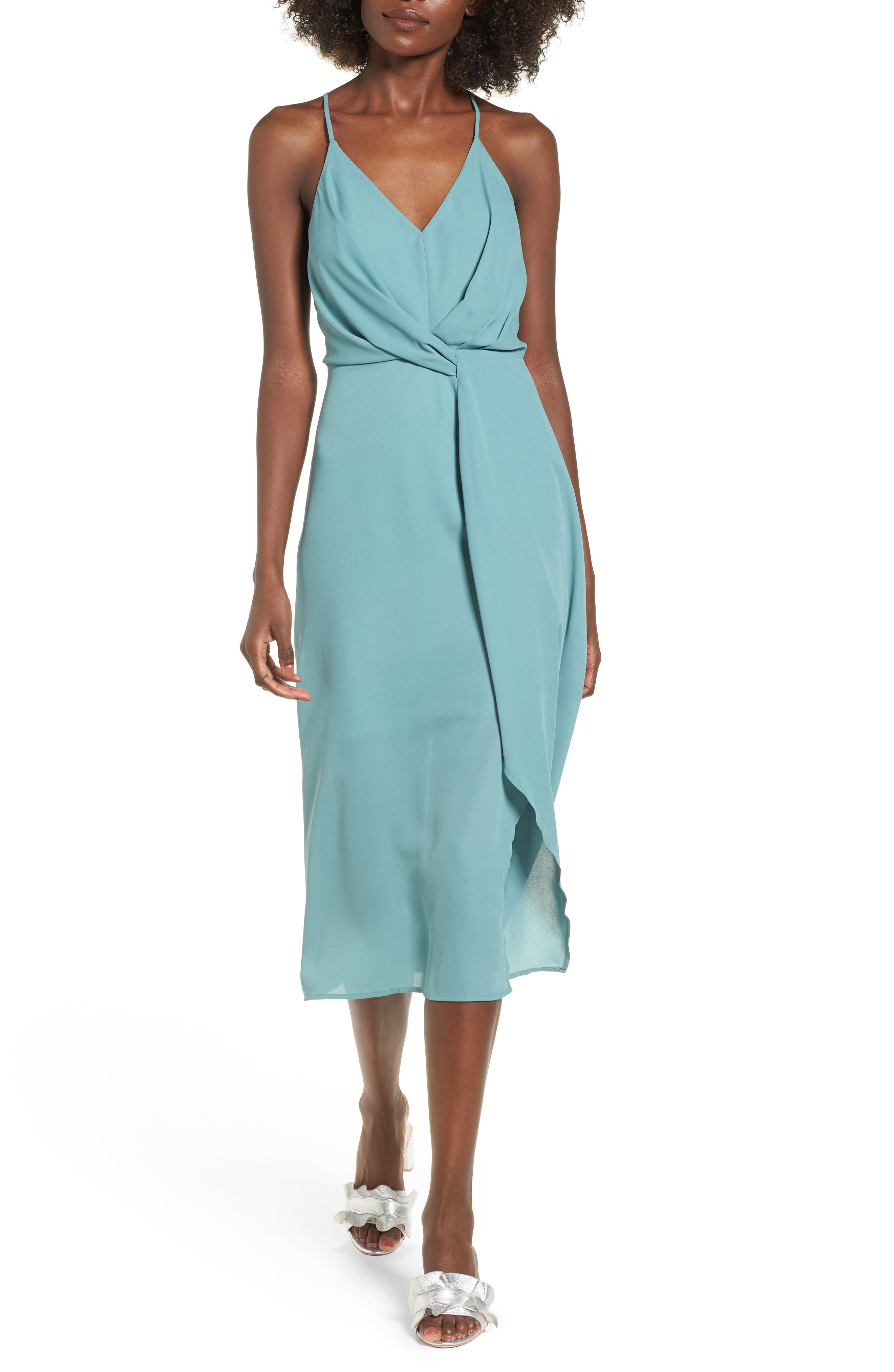 Dee Elly Knotted Waist Midi Dress