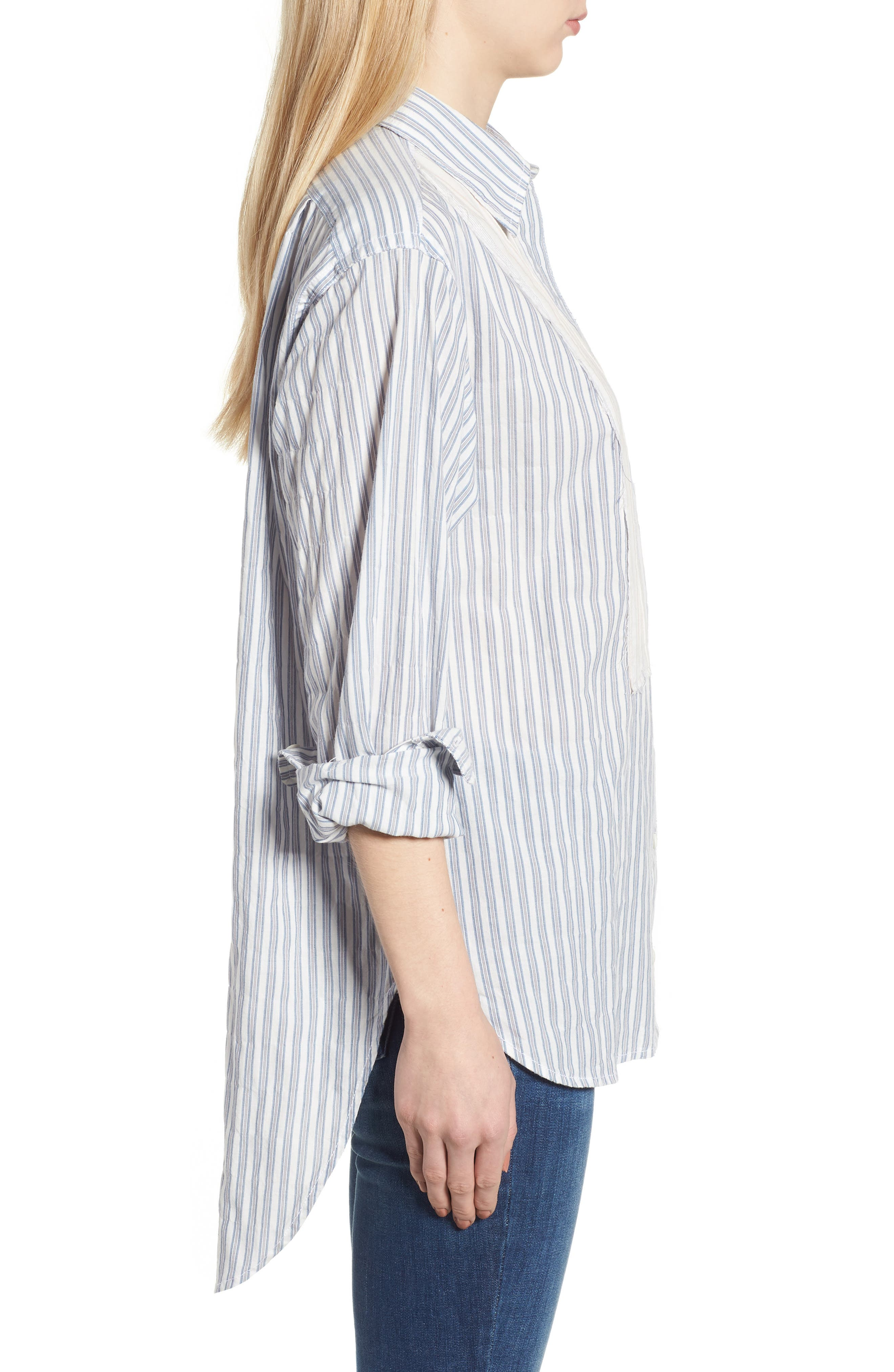 The Rosie Shirt,                             Alternate thumbnail 3, color,                             Multicolor Stripe