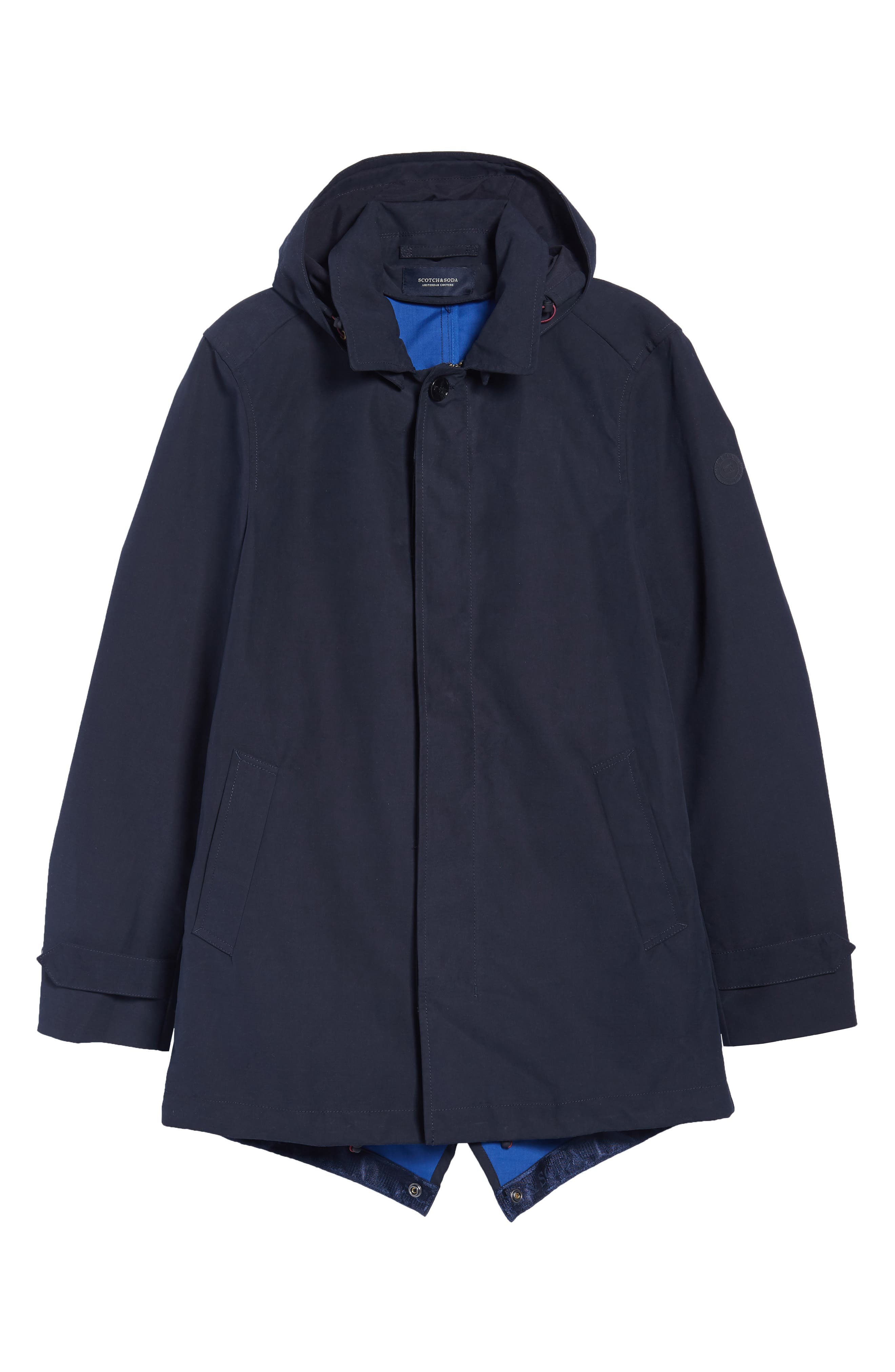 Classic Hooded Parka,                             Alternate thumbnail 6, color,                             Night