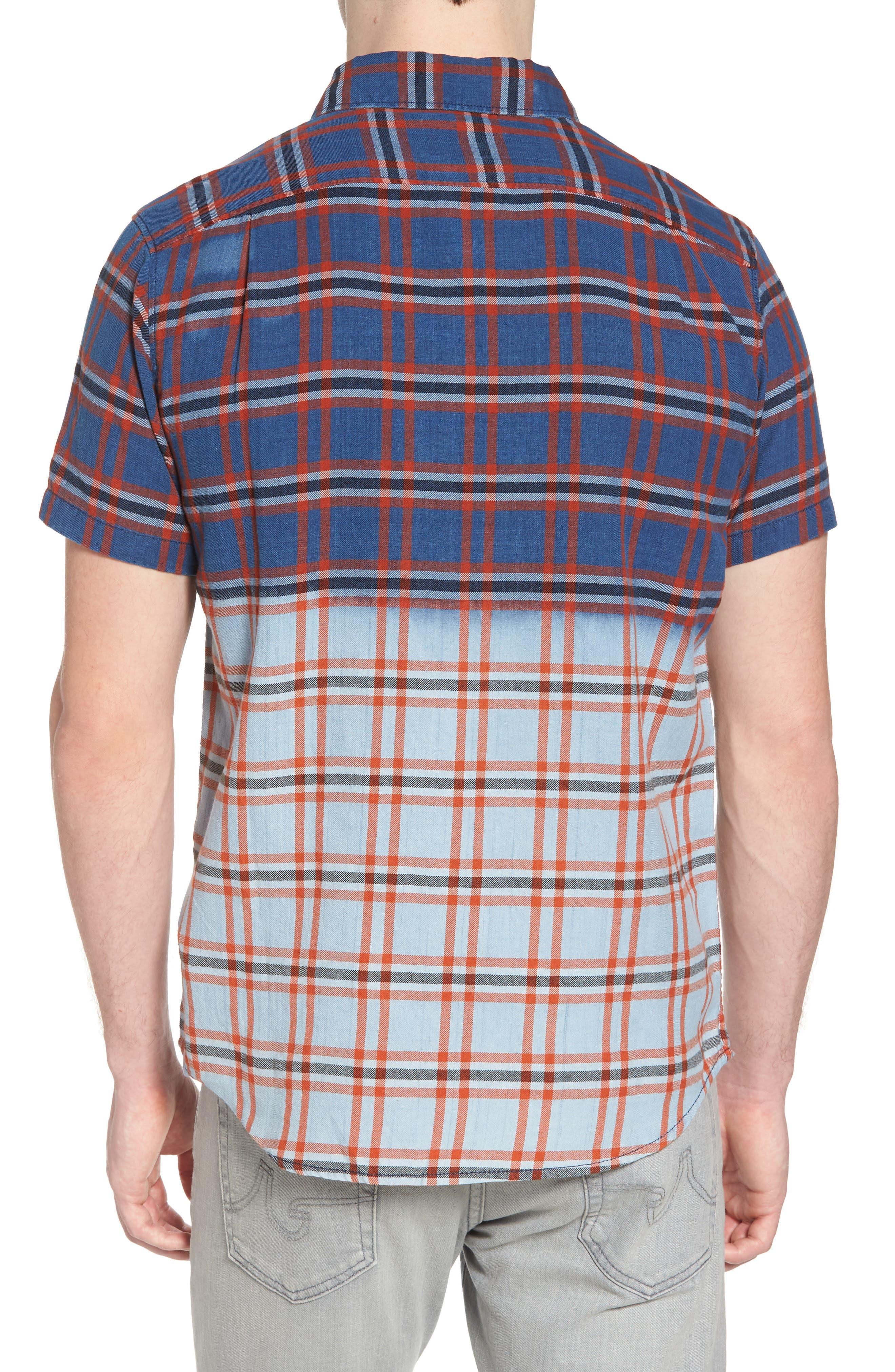 Prismatic Check Woven Shirt,                             Alternate thumbnail 2, color,                             Indigo Bleach