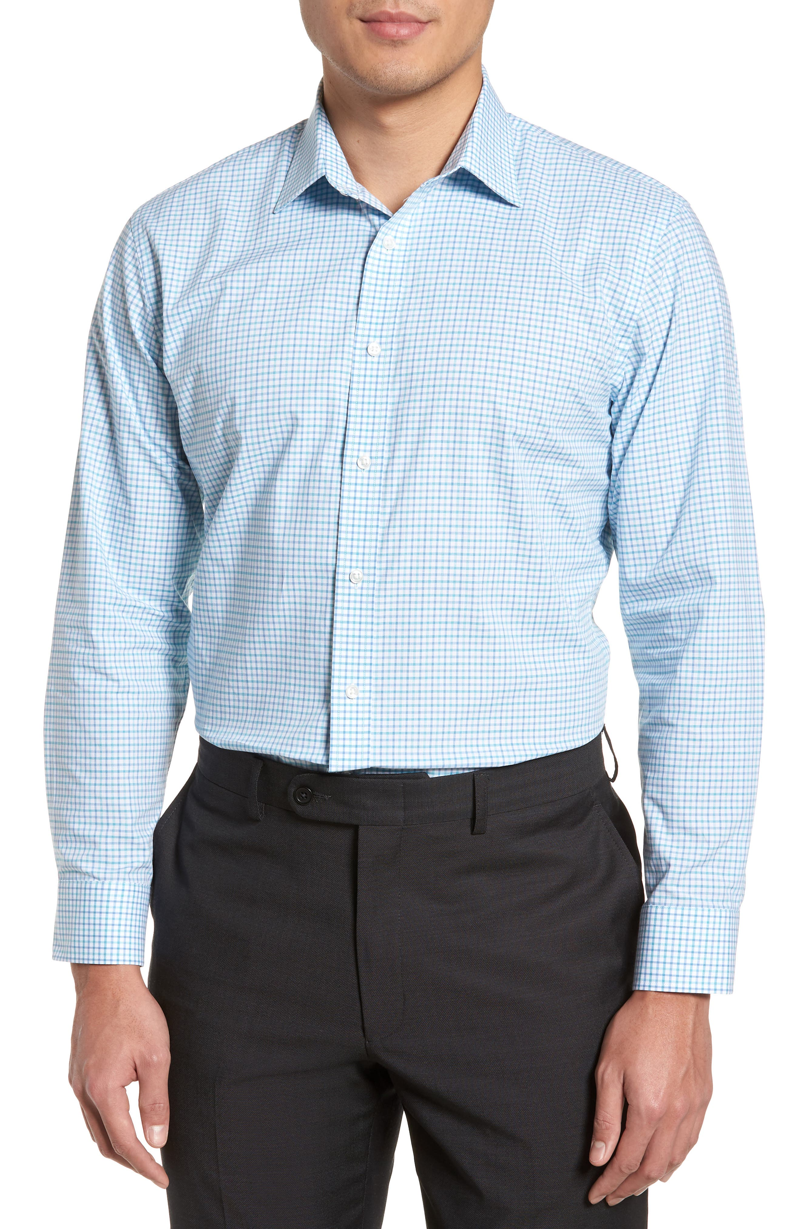 Main Image - Nordstrom Men's Shop Trim Fit Check Dress Shirt