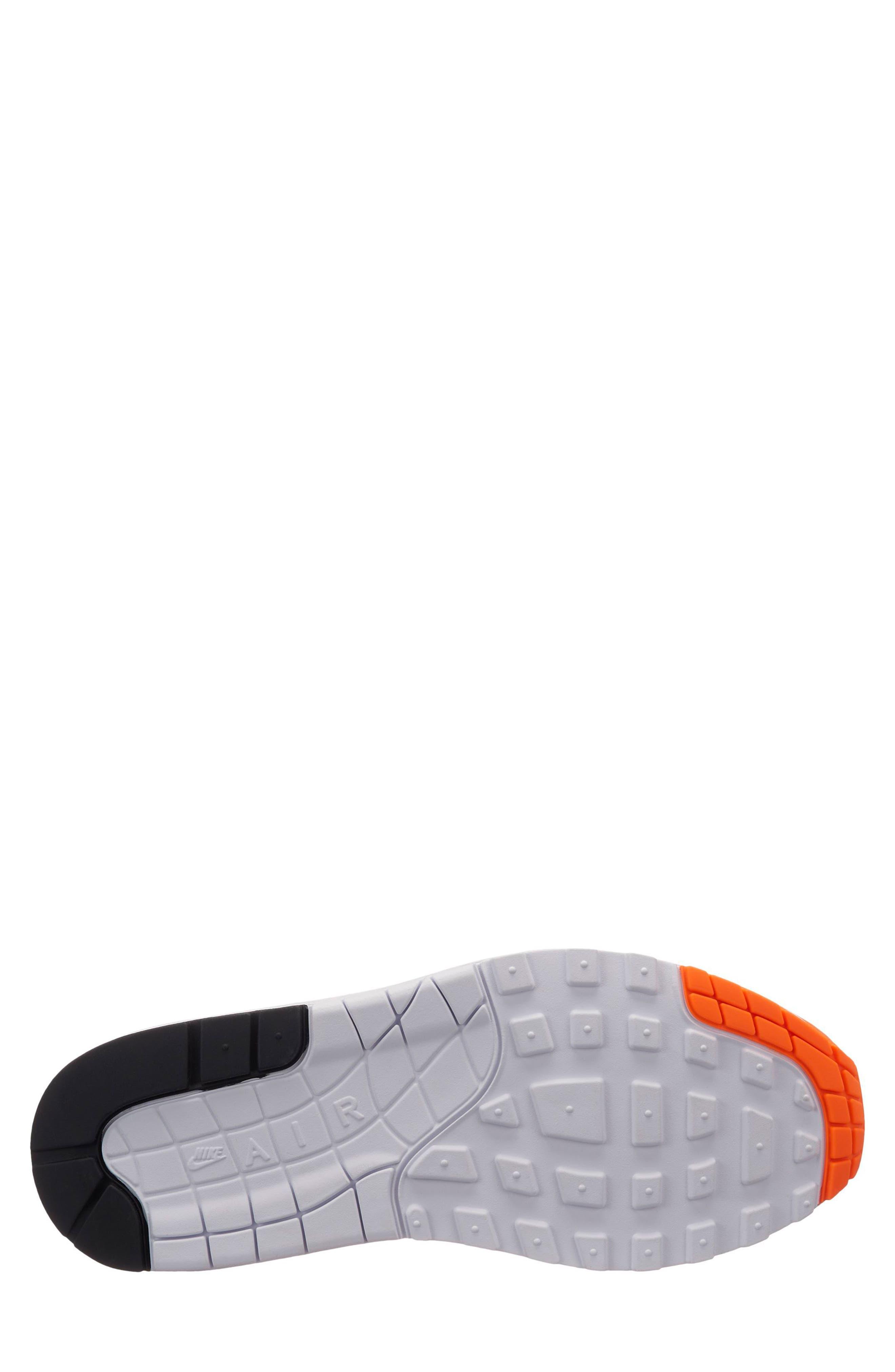 Air Max 1 Lux Sneaker,                             Alternate thumbnail 2, color,                             Total Orange/ White-Black