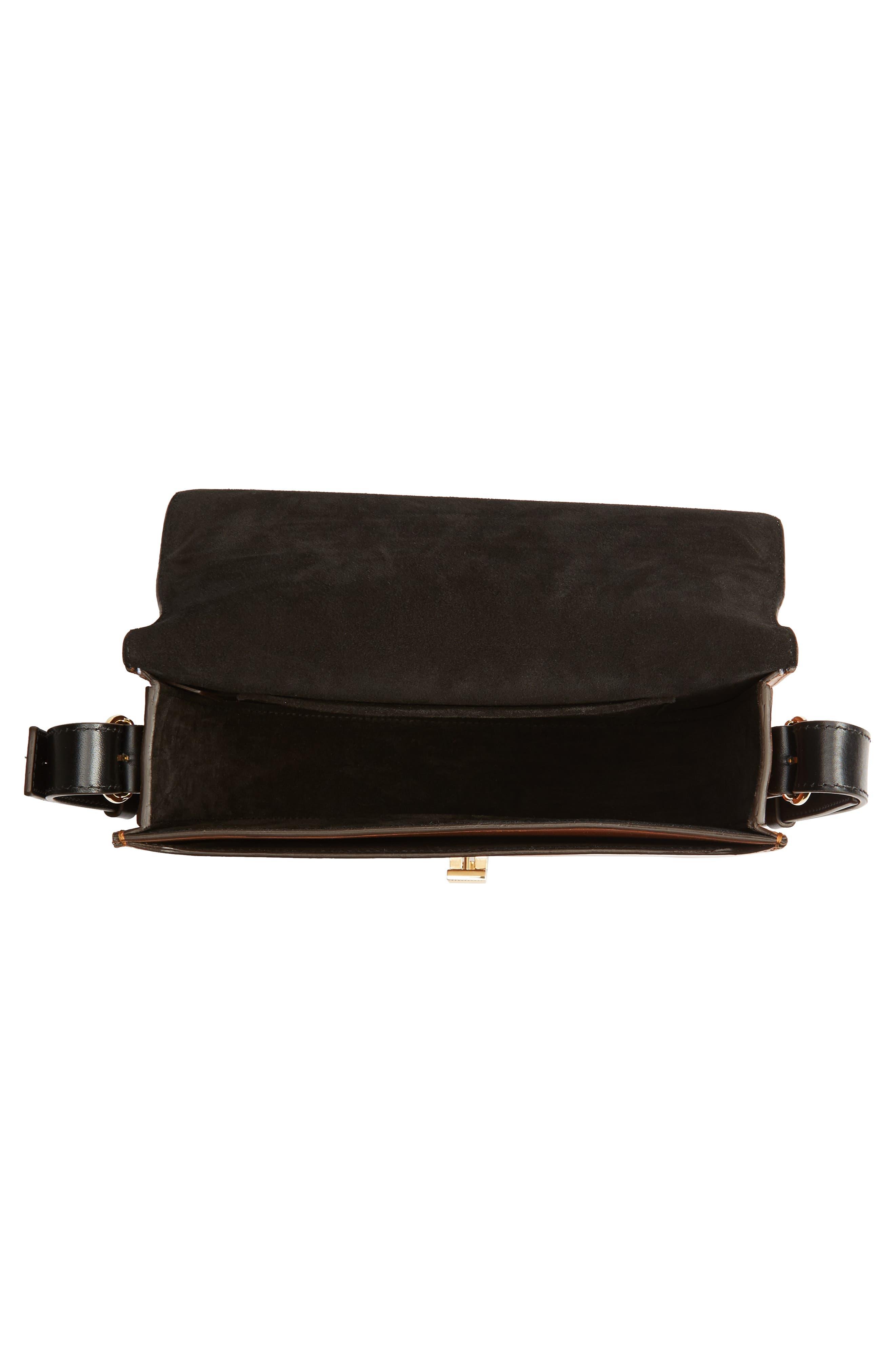 Half Moon Box Shoulder Bag,                             Alternate thumbnail 4, color,                             White/ Ambra/ Black