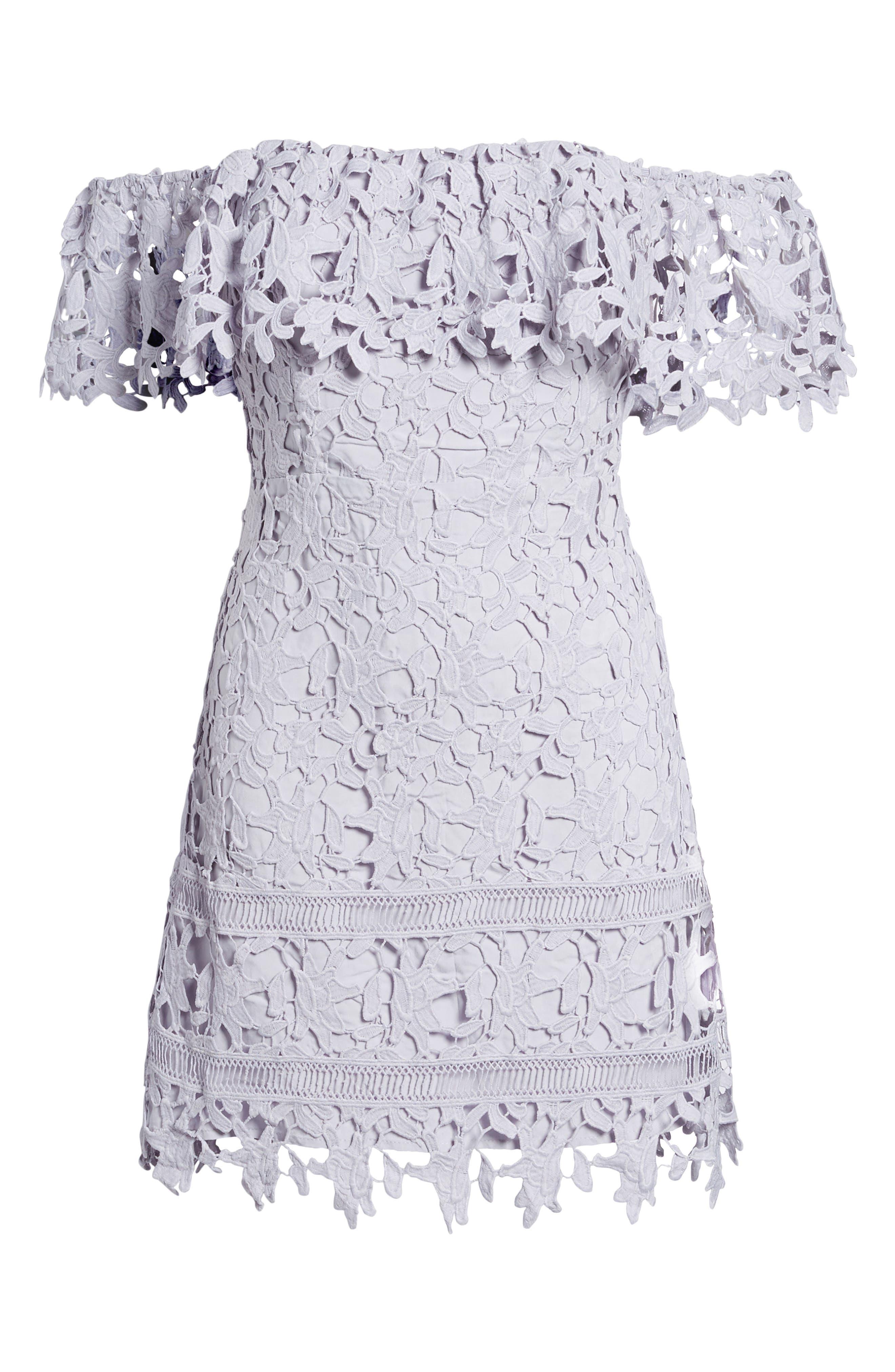 Alternate Image 6  - ASTR the Label Off the Shoulder Lace Minidress