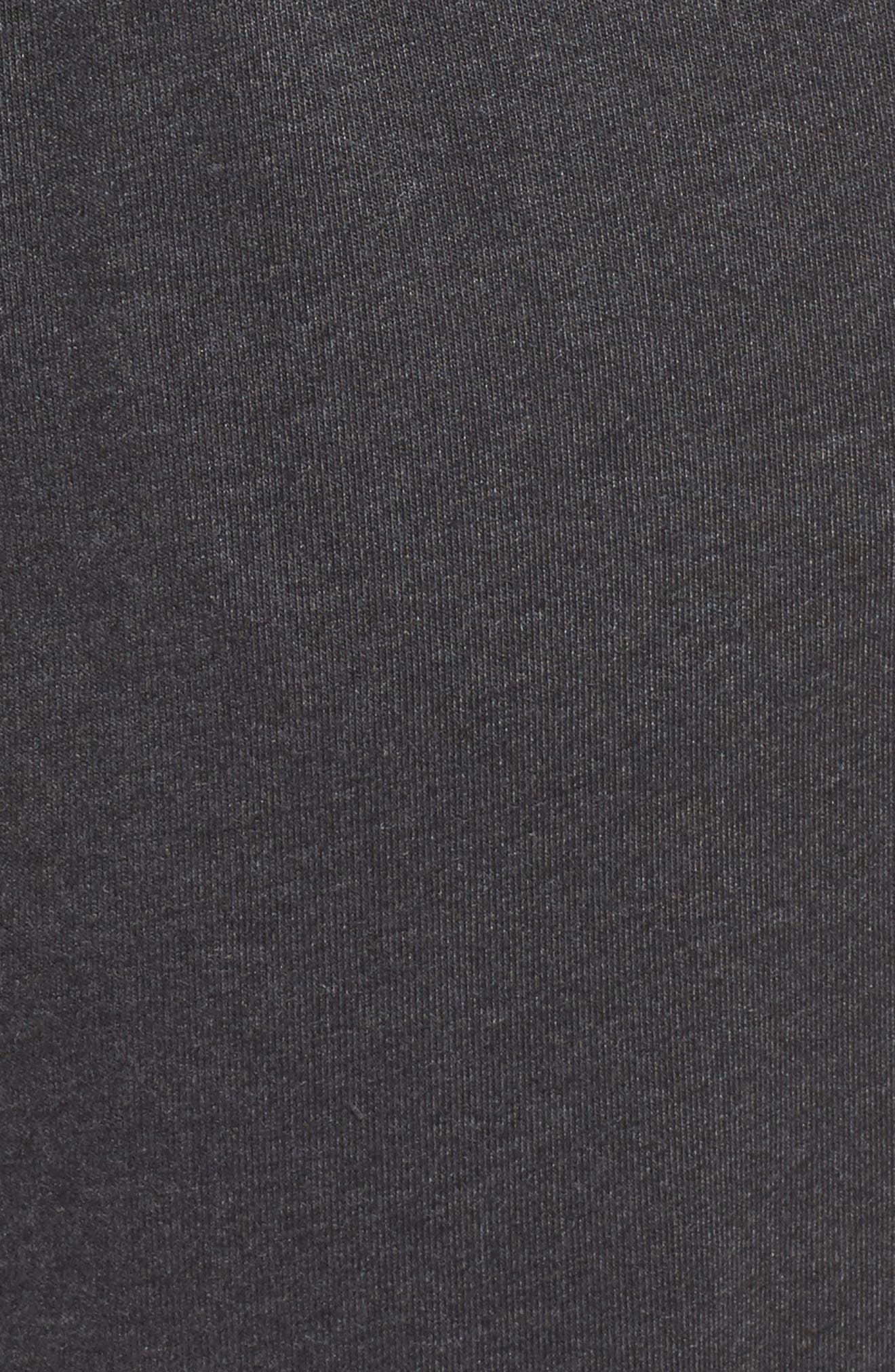 Sportswear Gym Capris,                             Alternate thumbnail 5, color,                             Black Heather/ Sail