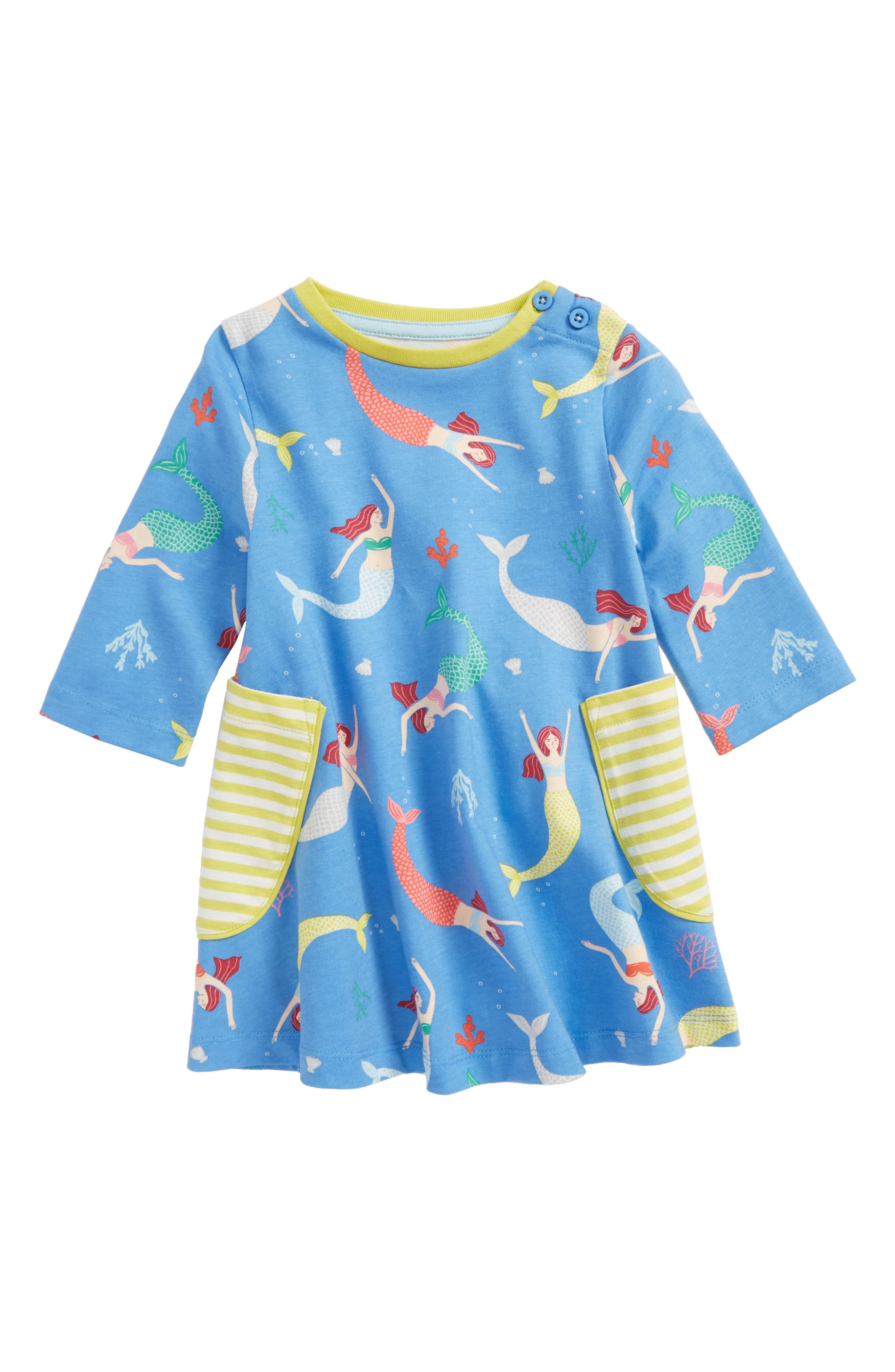 Print Tunic,                             Main thumbnail 1, color,                             Penzance Blue Mermaid