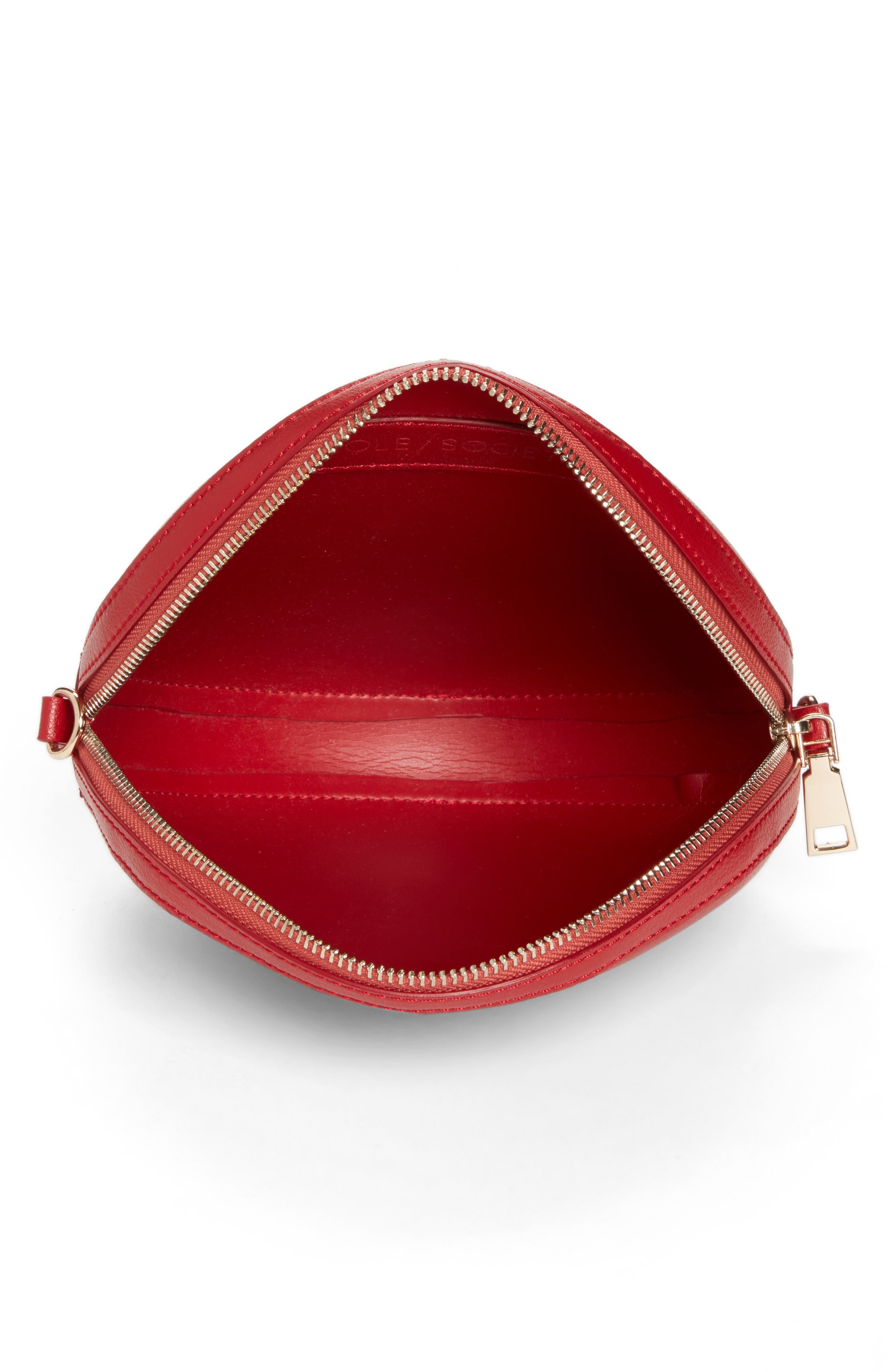 Smooth Circle Crossbody,                             Alternate thumbnail 4, color,                             Cherry Red
