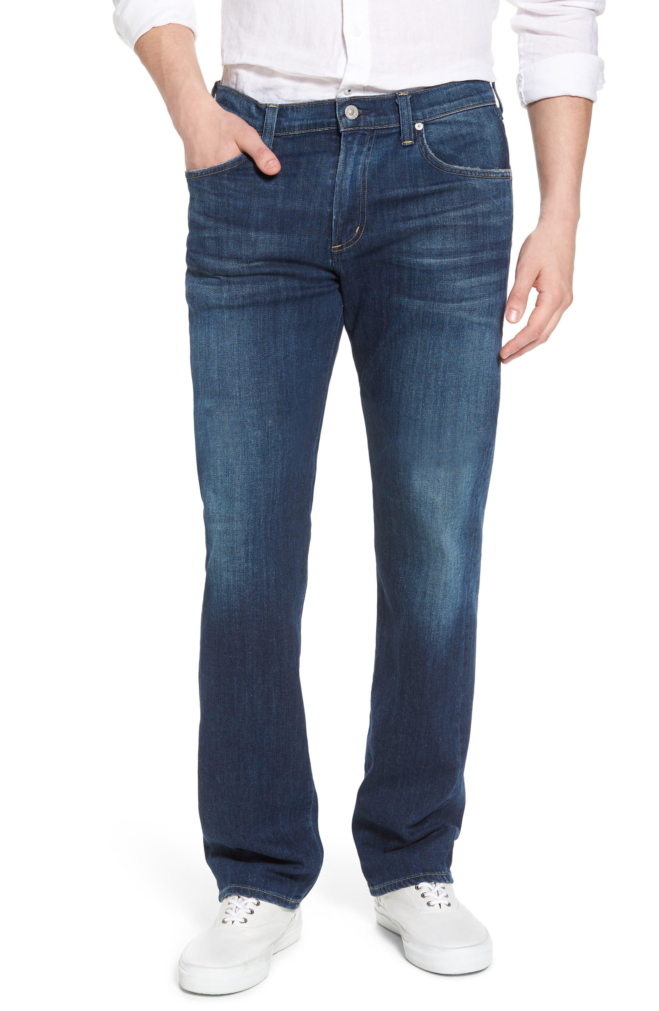 Sid Straight Leg Jeans,                         Main,                         color, Adler