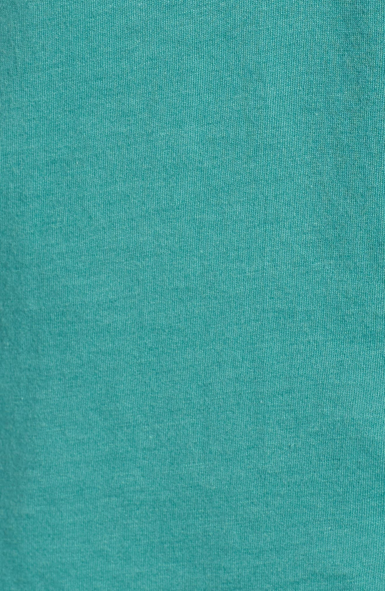 Up & Out Graphic Organic Cotton T-Shirt,                             Alternate thumbnail 5, color,                             Beryl Green