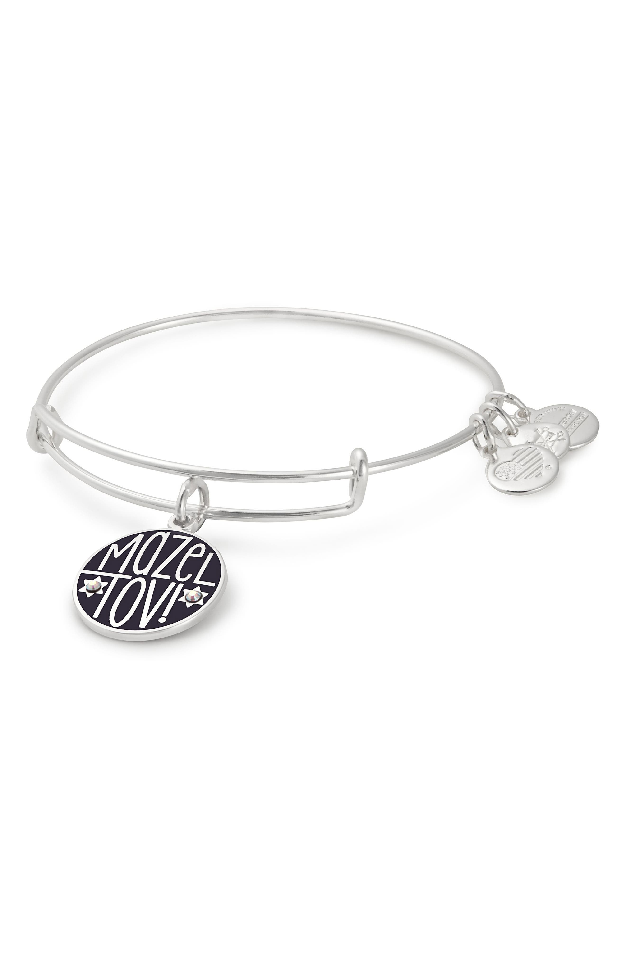 ALEX AND ANI Mazel Tov Charm Bangle in Silver