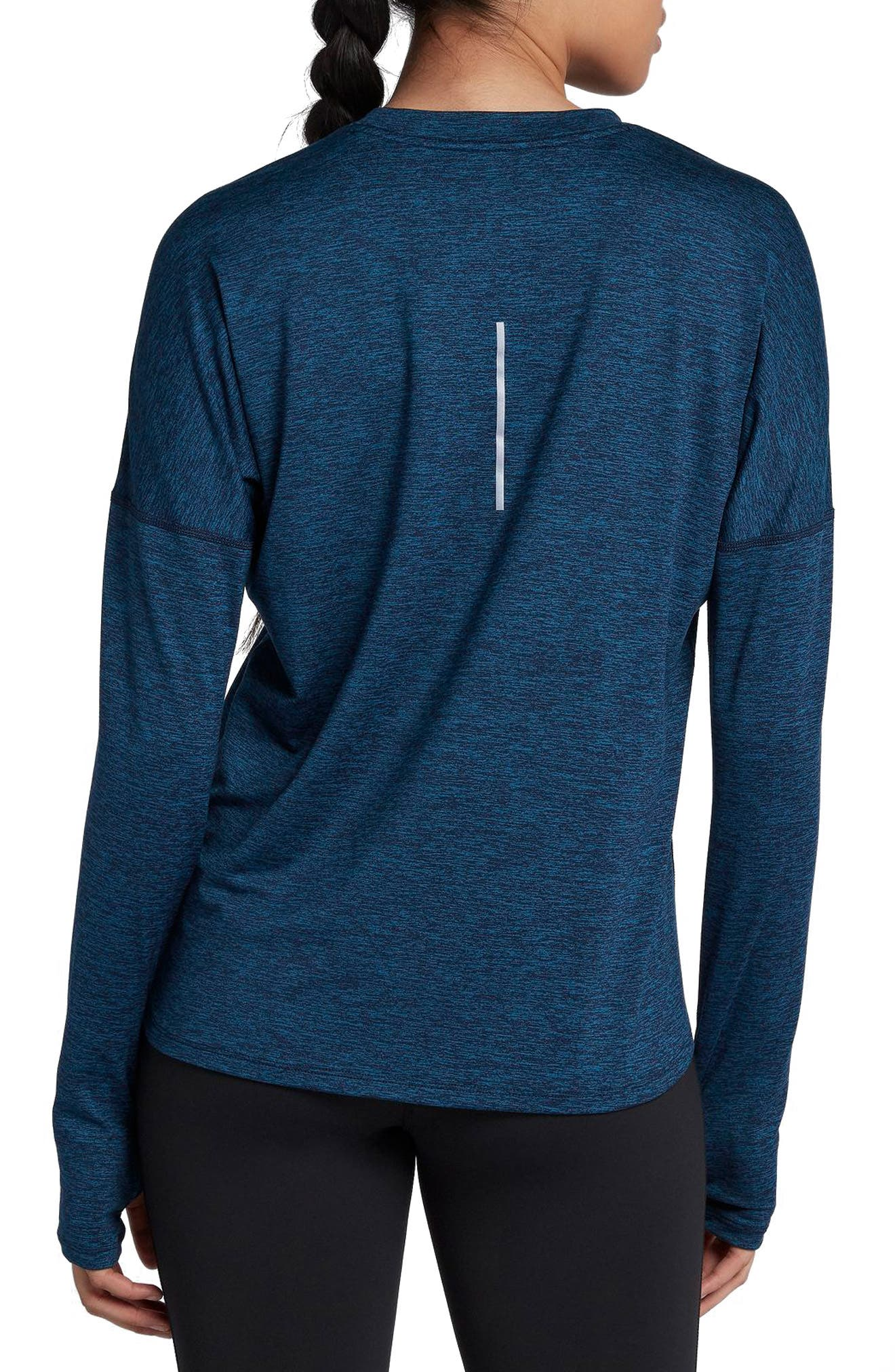 Dry Element Long Sleeve Top,                             Alternate thumbnail 2, color,                             Obsidian/ Blue Force/ Heather