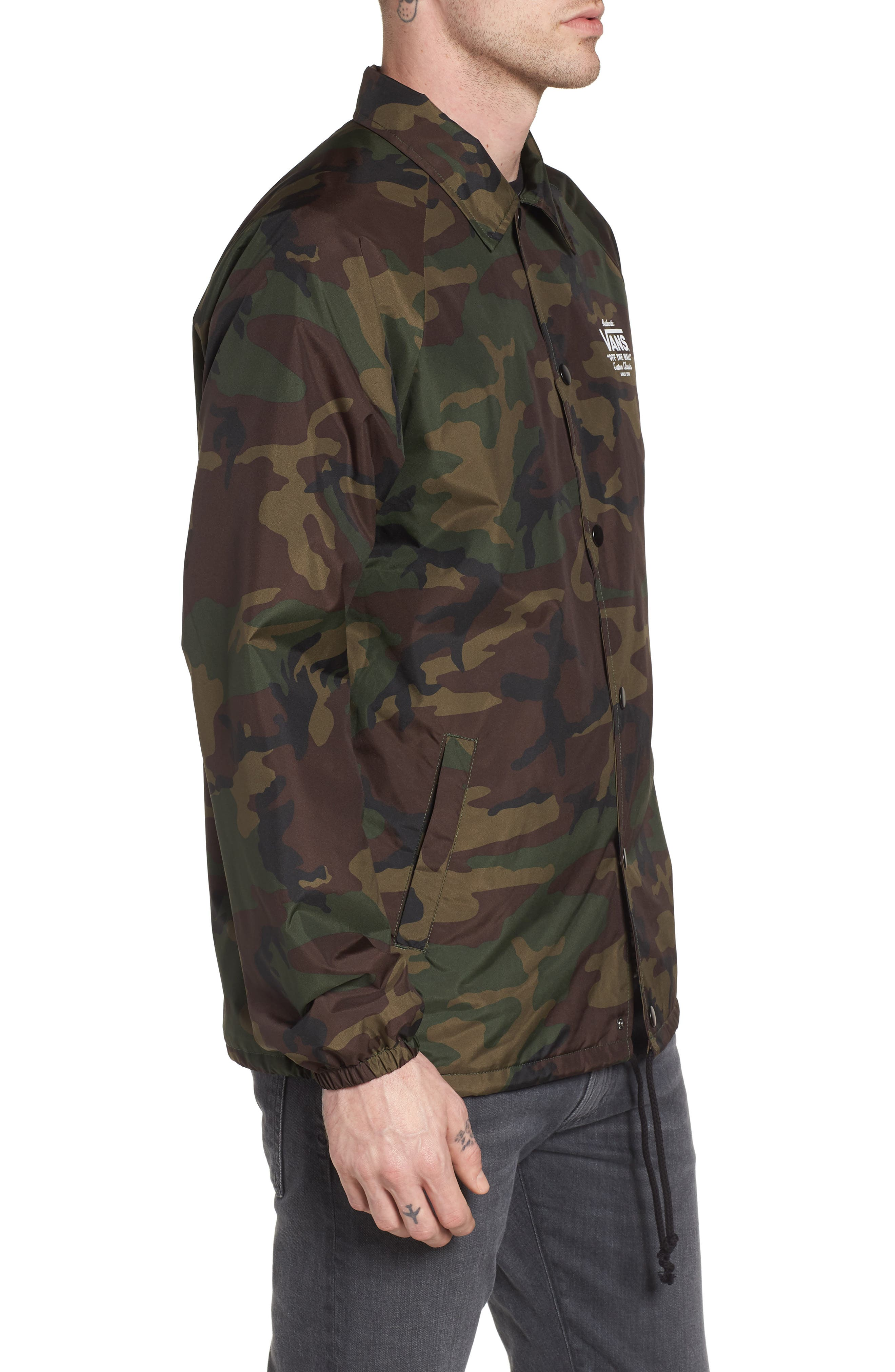 Torrey Water Resistant Coach's Jacket,                             Alternate thumbnail 3, color,                             Camo