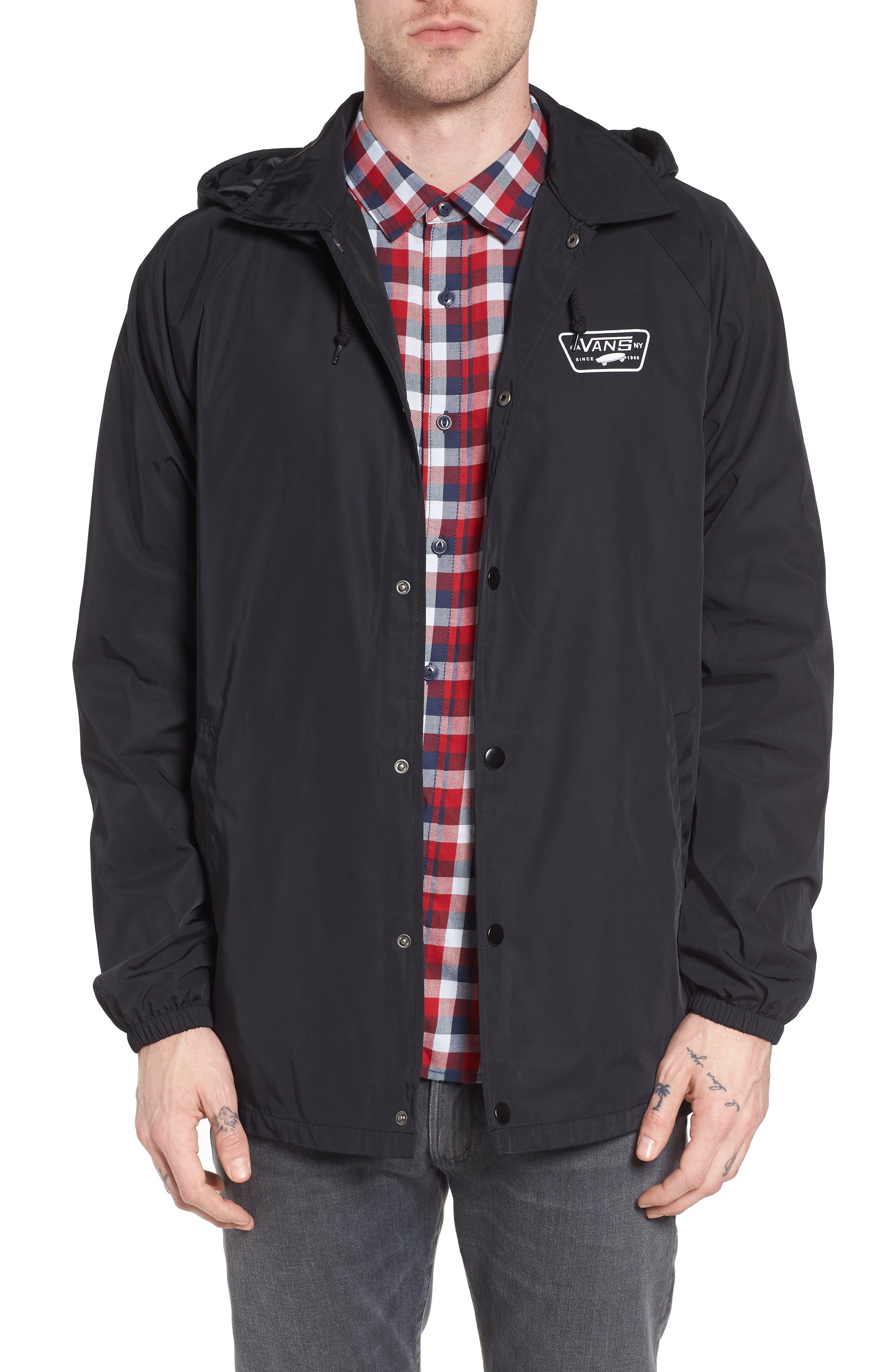 Torrey Water-Resistant Hooded Jacket,                         Main,                         color, Black
