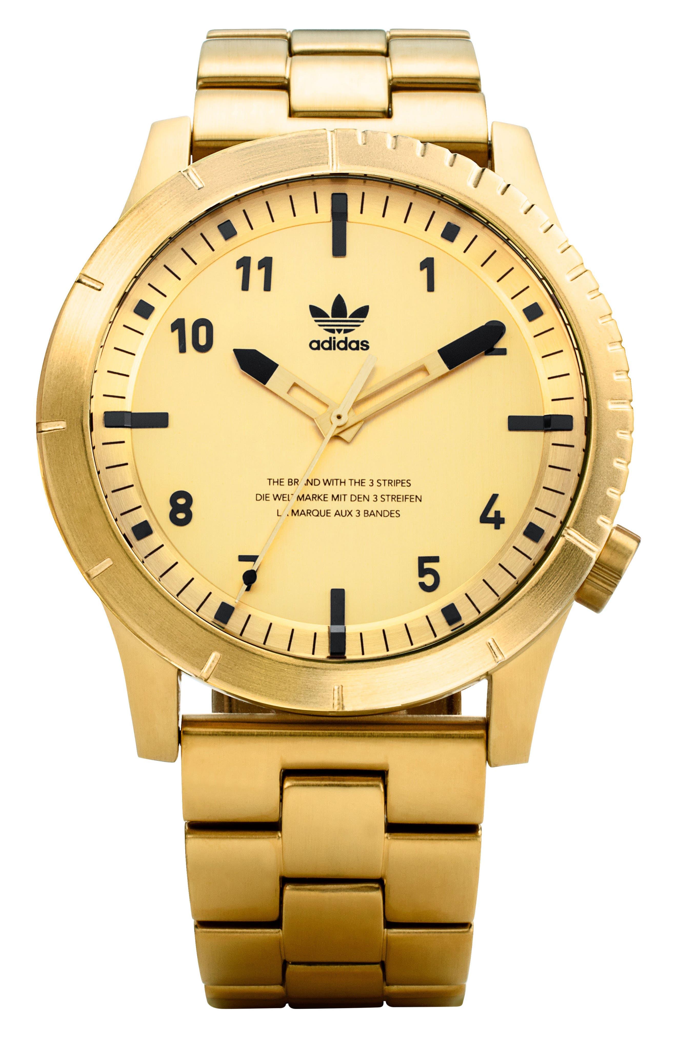 Cypher Bracelet Watch, 42mm,                             Main thumbnail 1, color,                             Gold/ Black