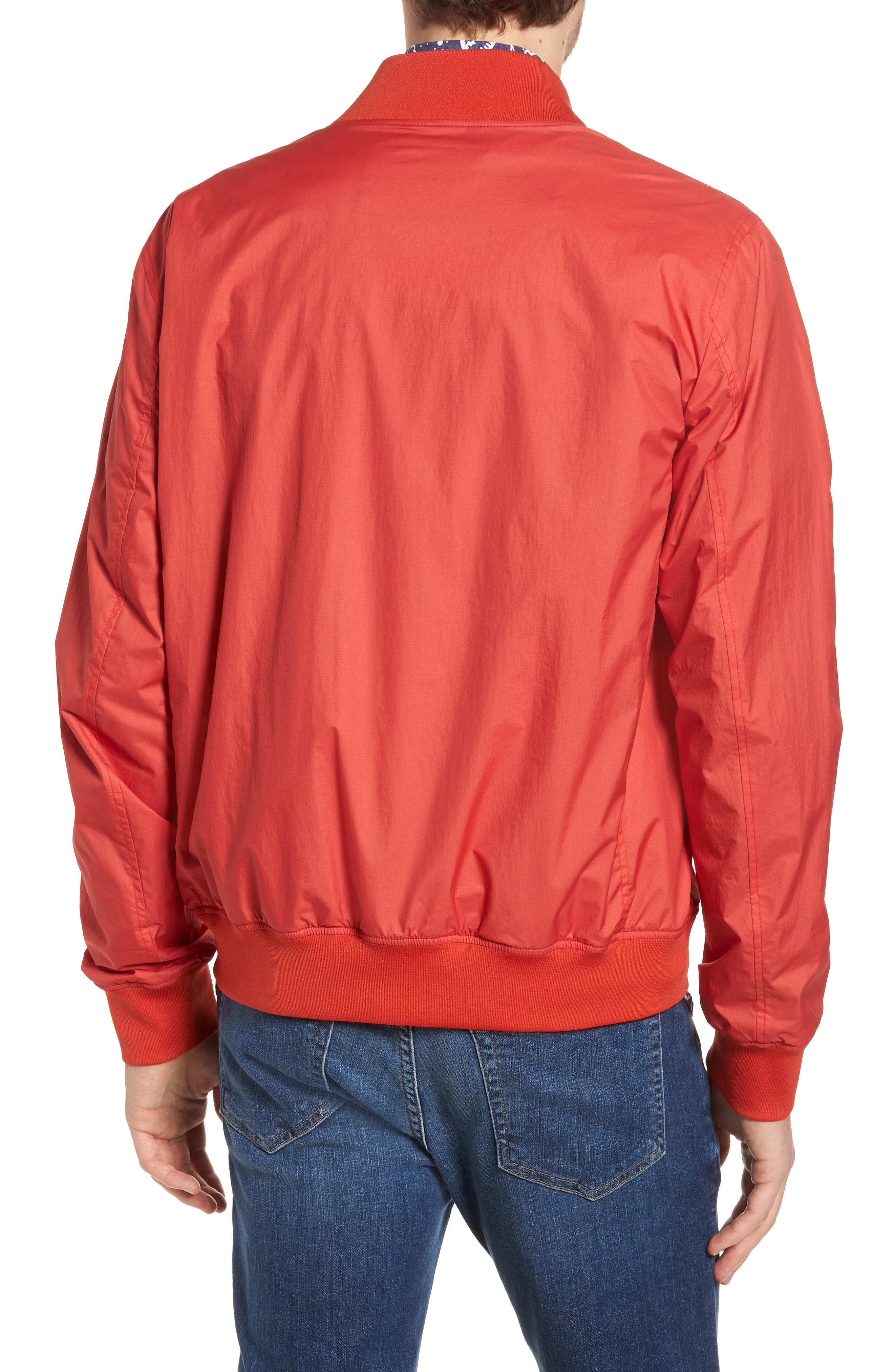Wallaby Bomber Jacket,                             Alternate thumbnail 2, color,                             Aurora Red