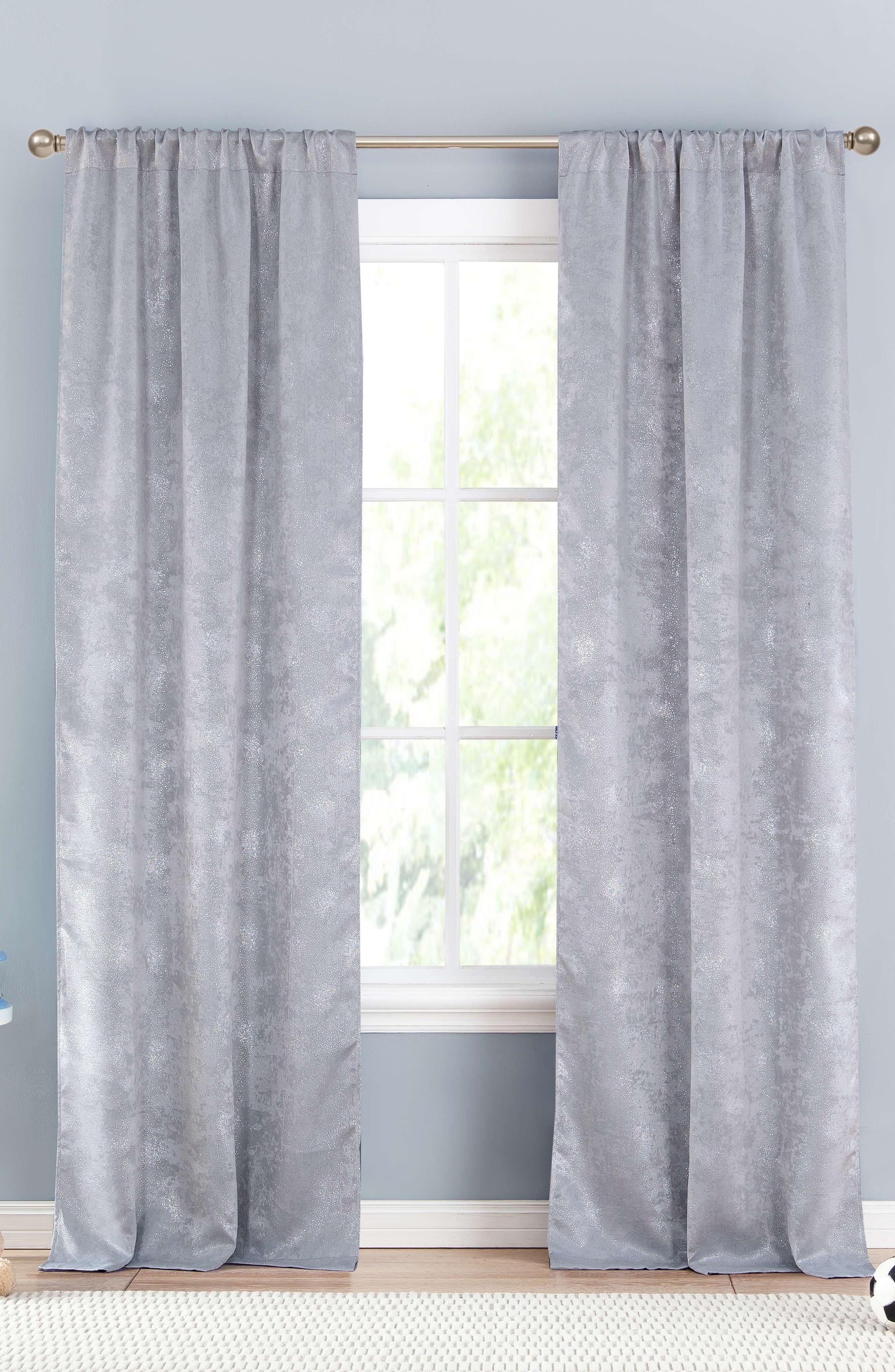 Main Image - LALA + BASH Clarice Metallic Blackout Window Panels