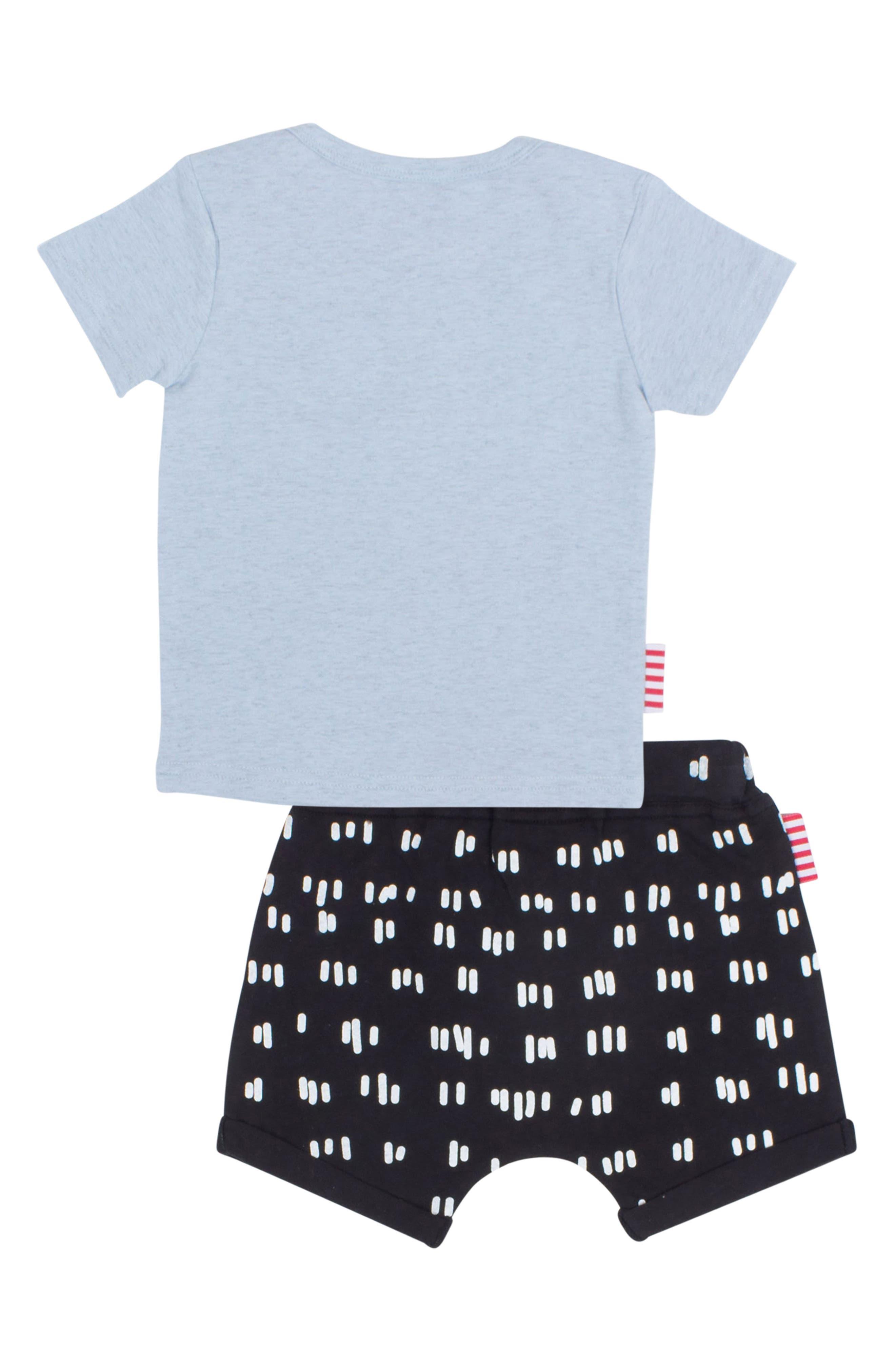 Licorice T-Shirt & Shorts Set,                             Alternate thumbnail 2, color,                             Blue/ Black
