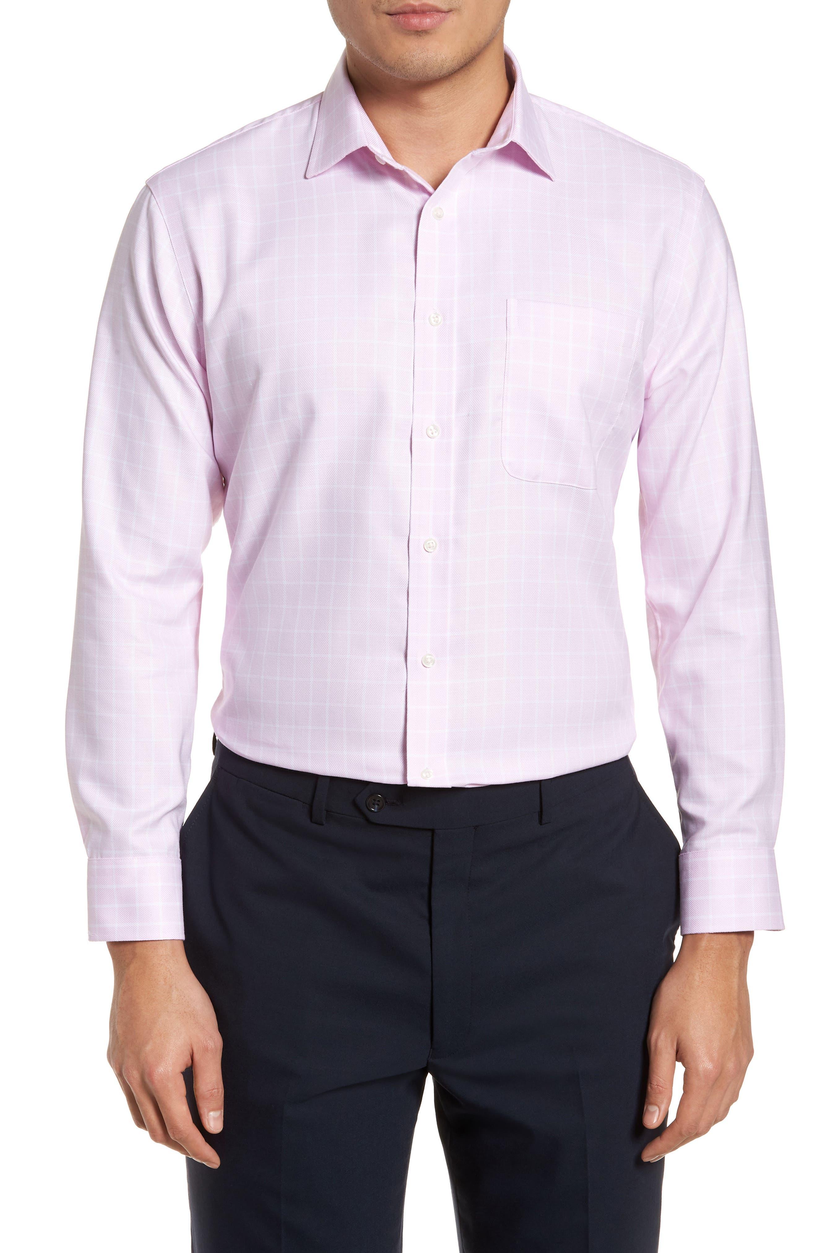 Nordstrom Men's Shop Trim Fit No-Iron Check Dress Shirt