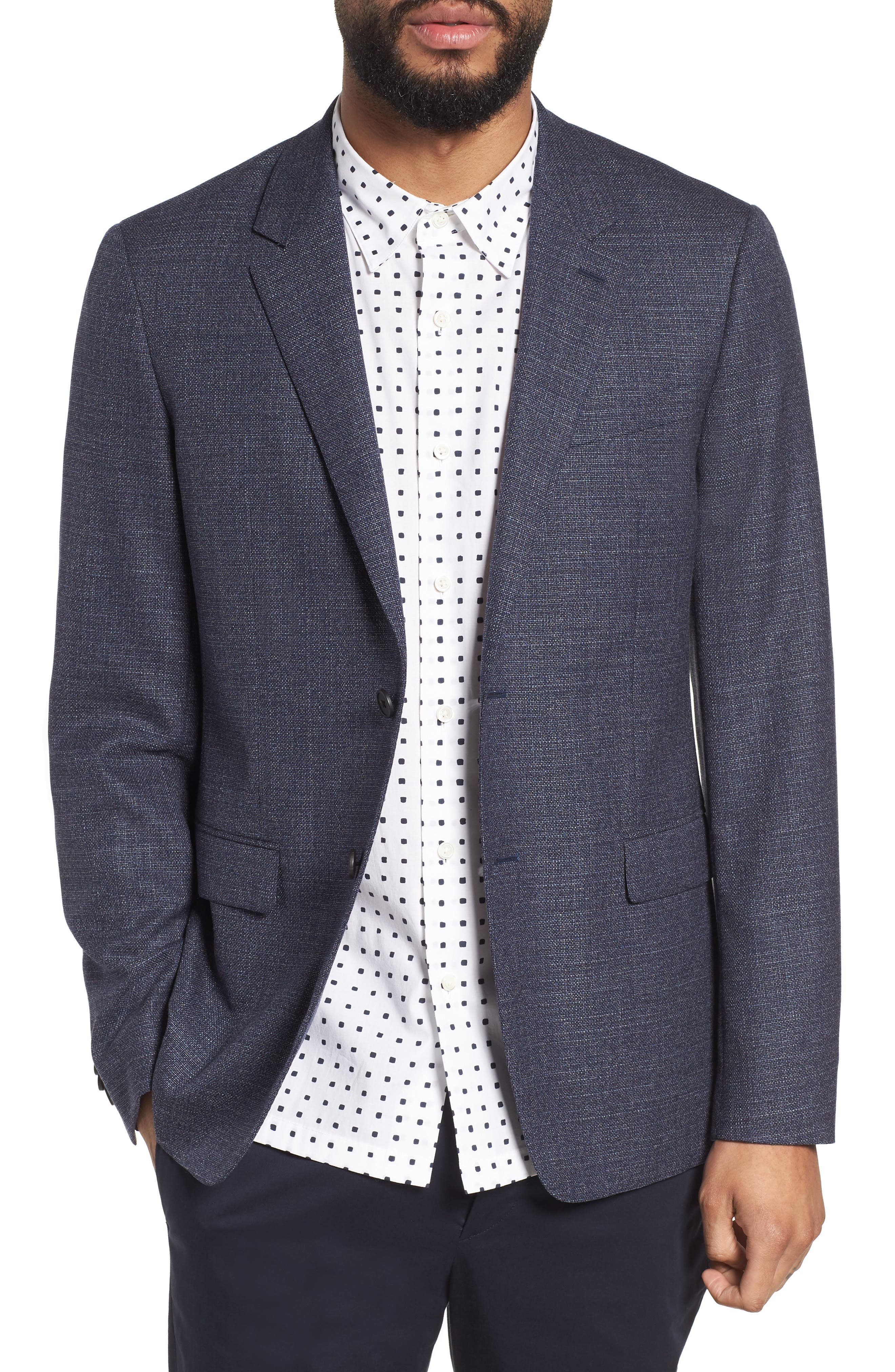 Gansevoort Regular Fit Wool Blazer,                         Main,                         color, Storm