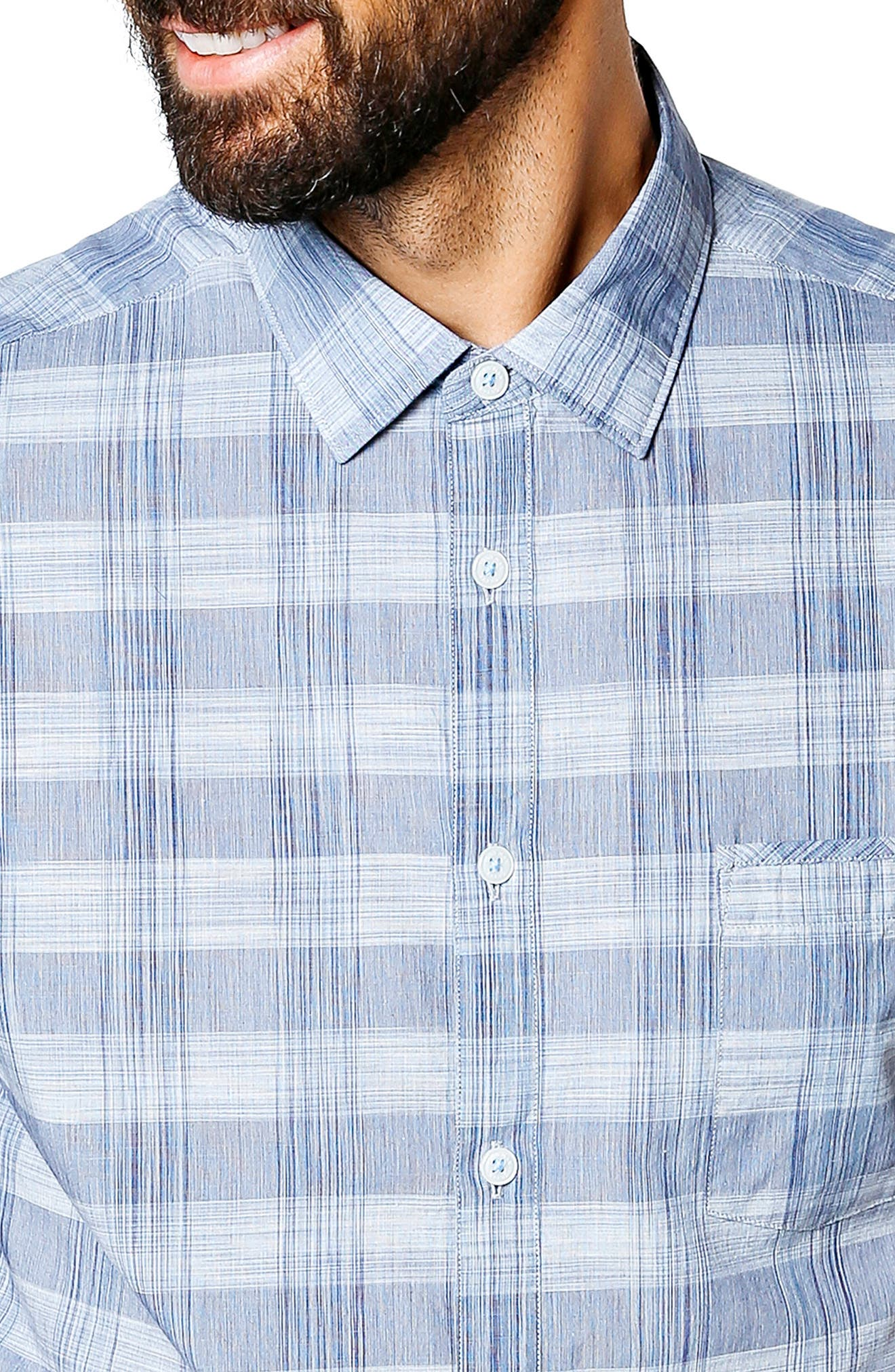 Alternate Image 4  - Good Man Brand Palisade Space Trim Fit Check Sport Shirt