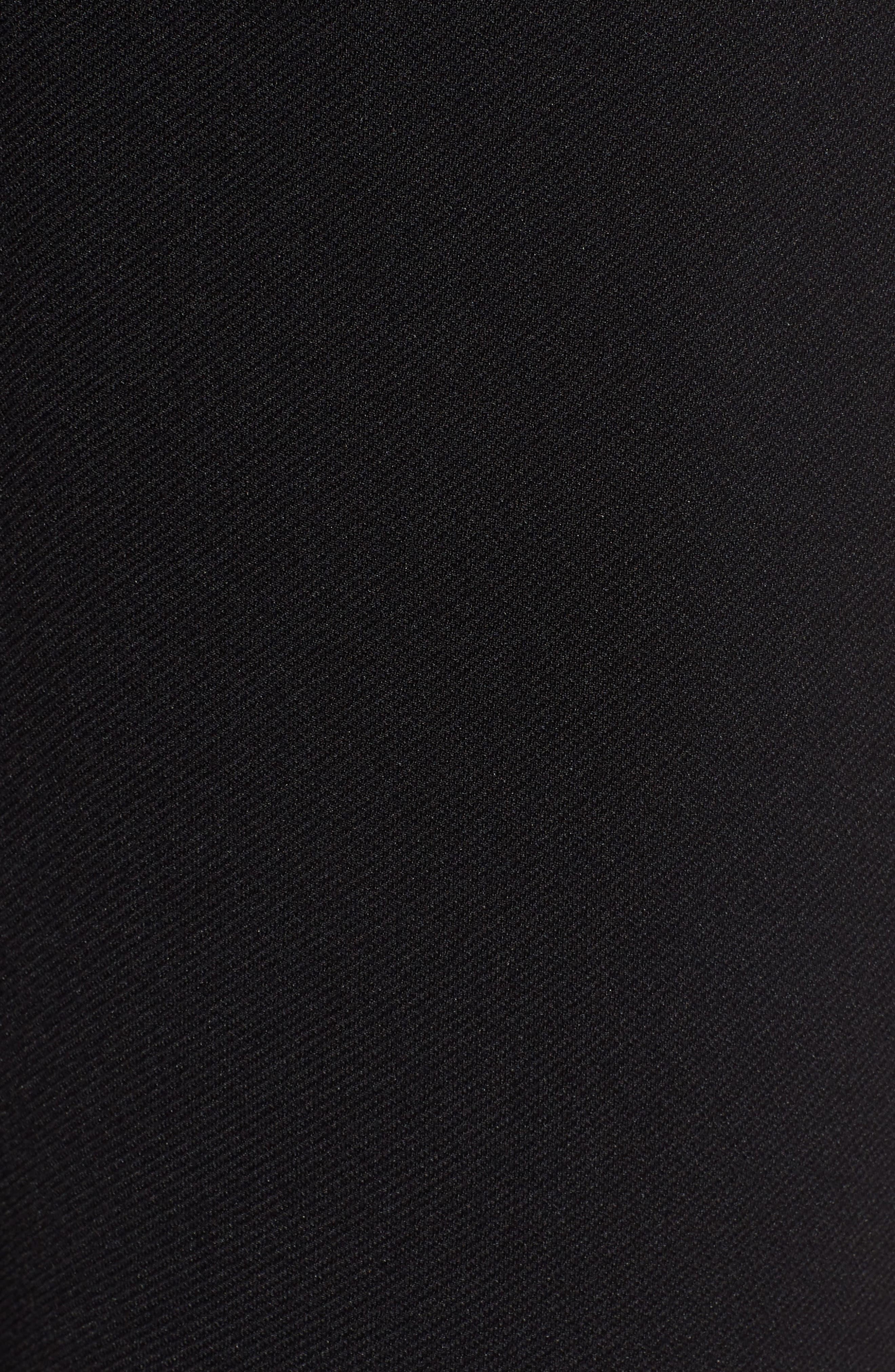 Tilezea Twill Jersey Trousers,                             Alternate thumbnail 6, color,                             Black