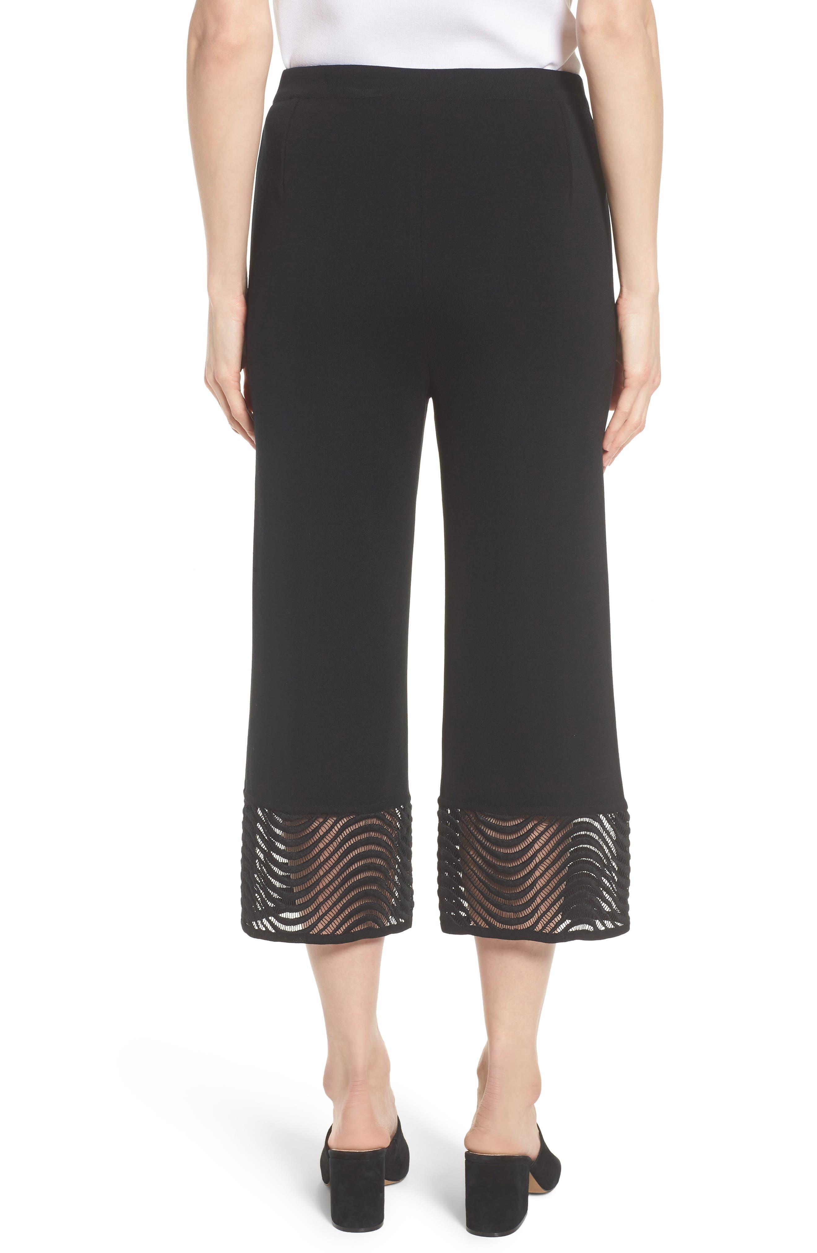 Crop Knit Pants,                             Alternate thumbnail 2, color,                             Black