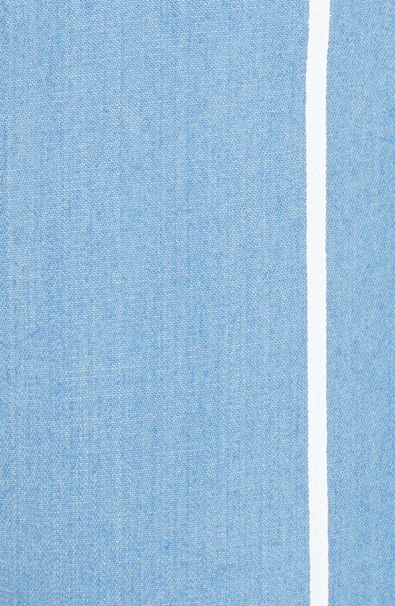 Stripe Slim Shorts,                             Alternate thumbnail 5, color,                             White Stripe