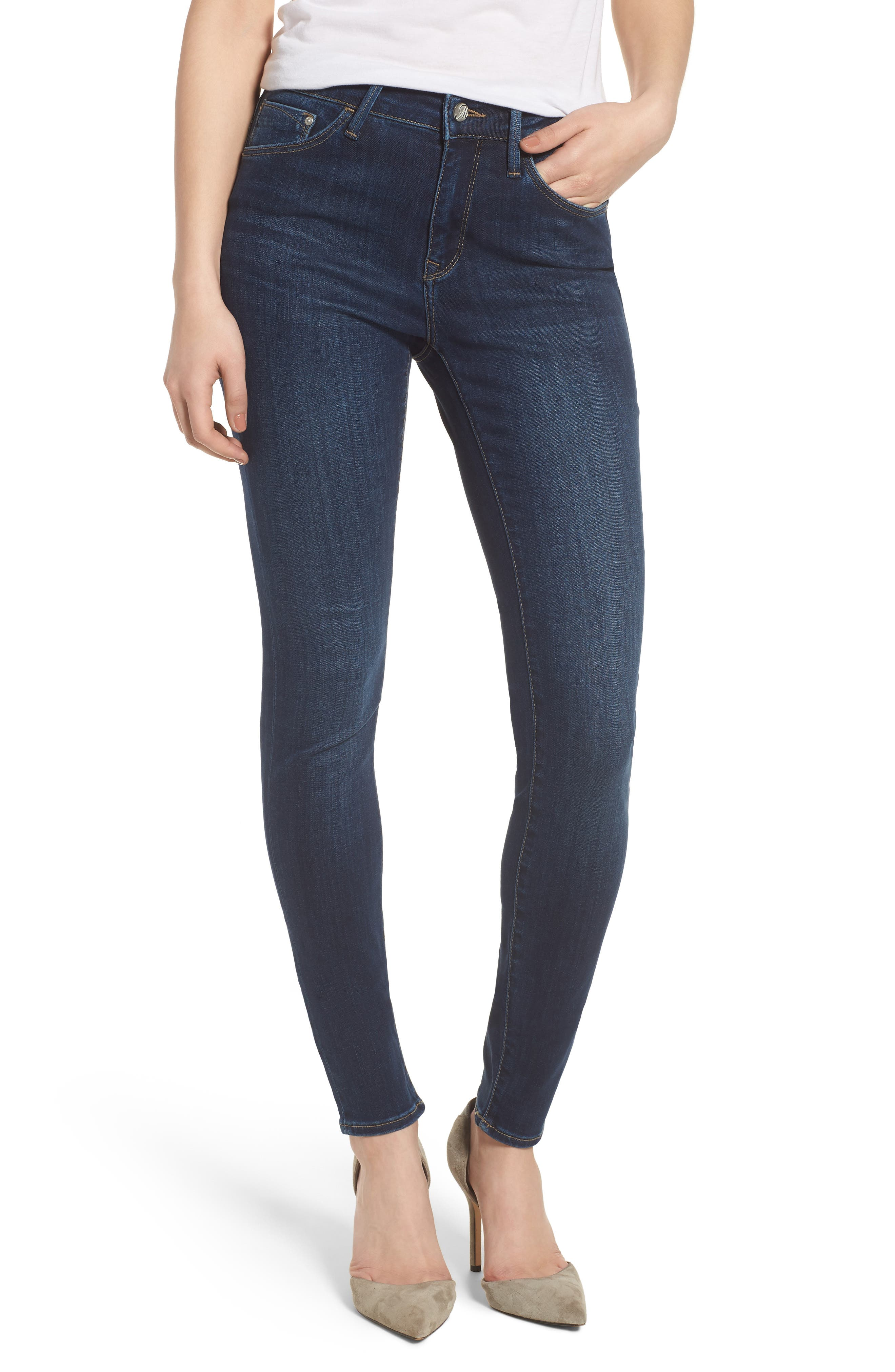 Main Image - Mavi Jeans Alissa Skinny Jeans (Dark Supersoft)