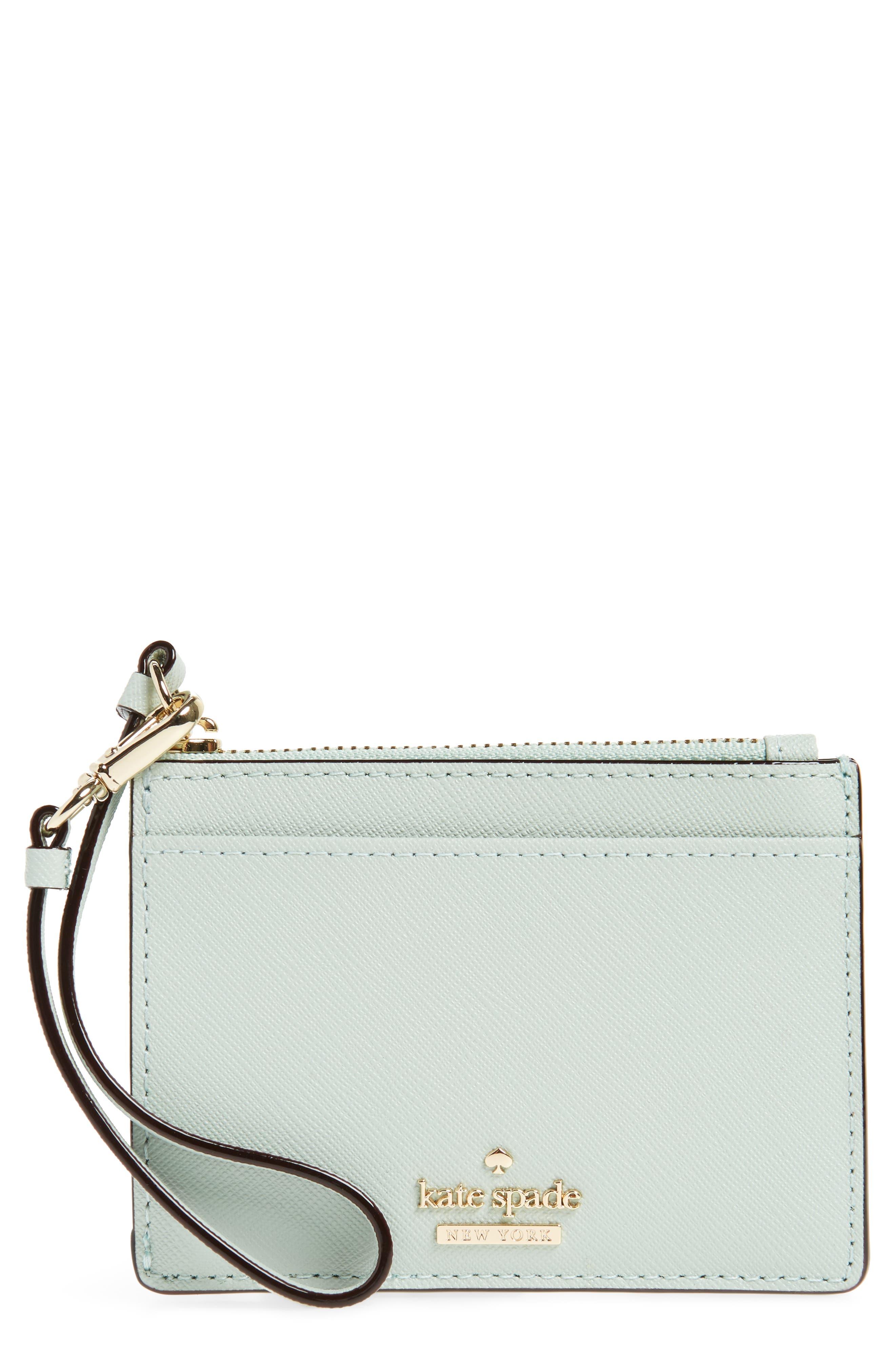 cameron street - mellody leather card case,                             Main thumbnail 1, color,                             Misty Mint
