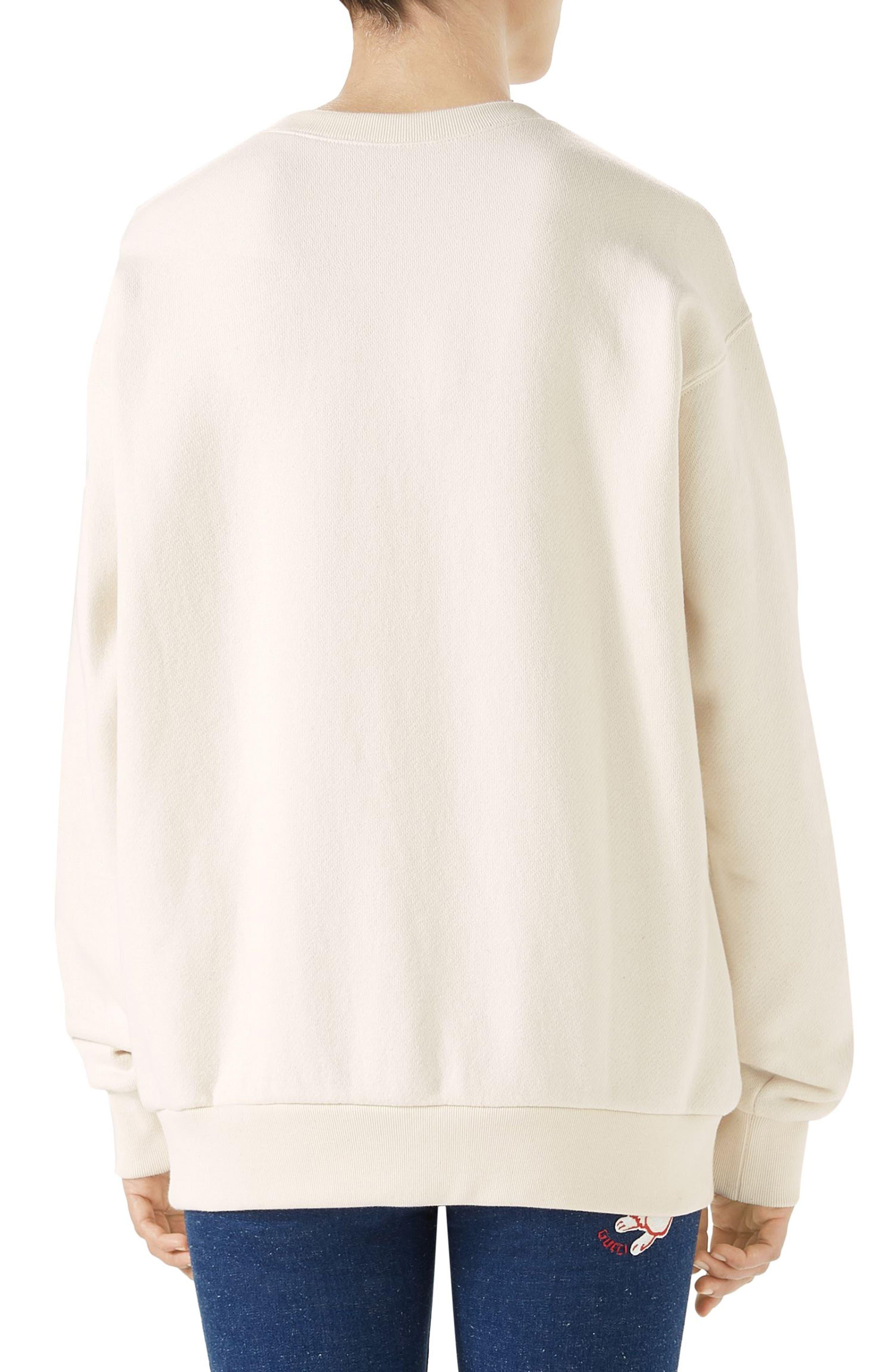 Hypnotism Graphic Sweatshirt,                             Alternate thumbnail 2, color,                             Natural White/ Multicolor
