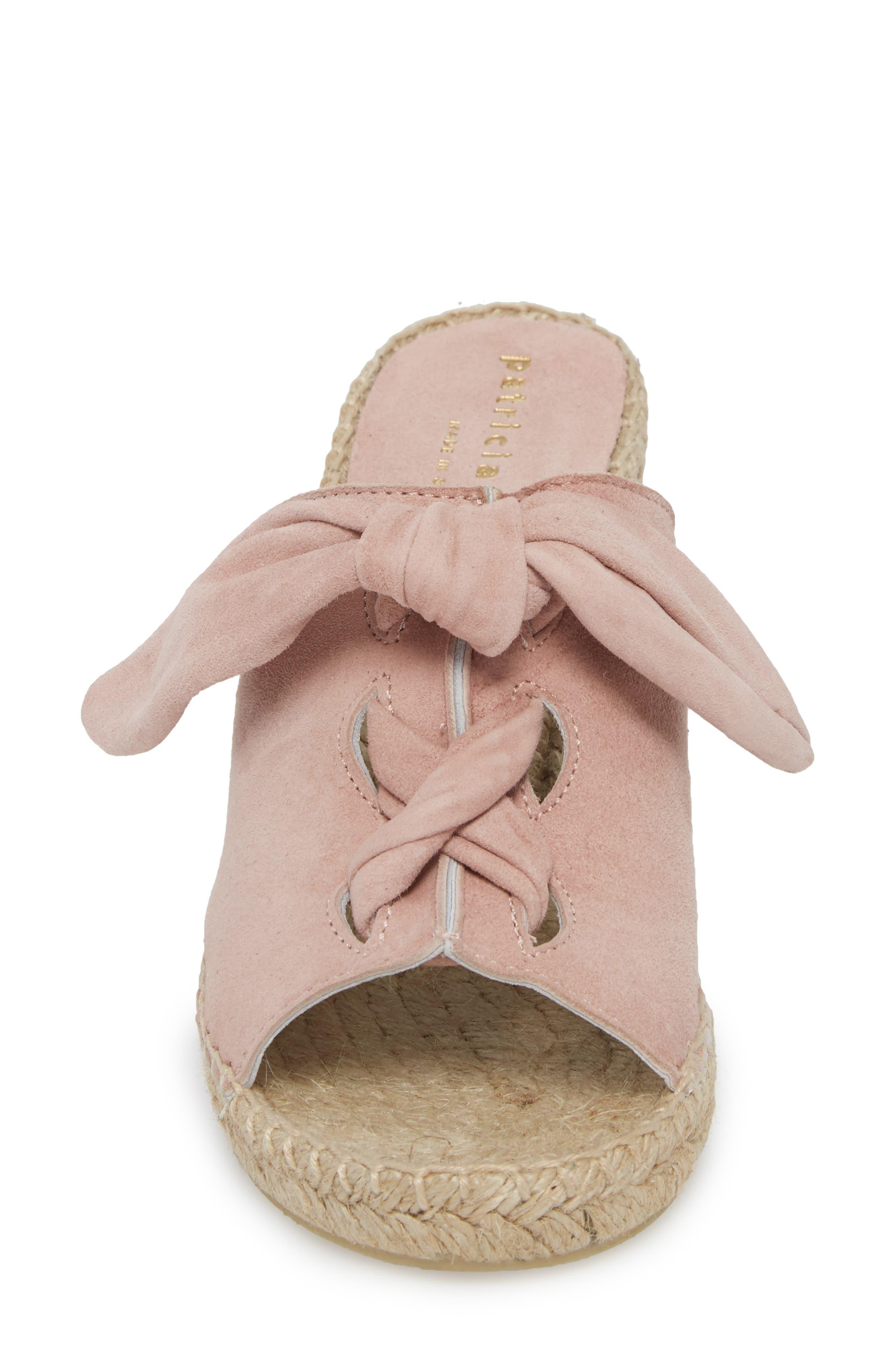 Flirt Espadrille Wedge Sandal,                             Alternate thumbnail 4, color,                             Pink Suede