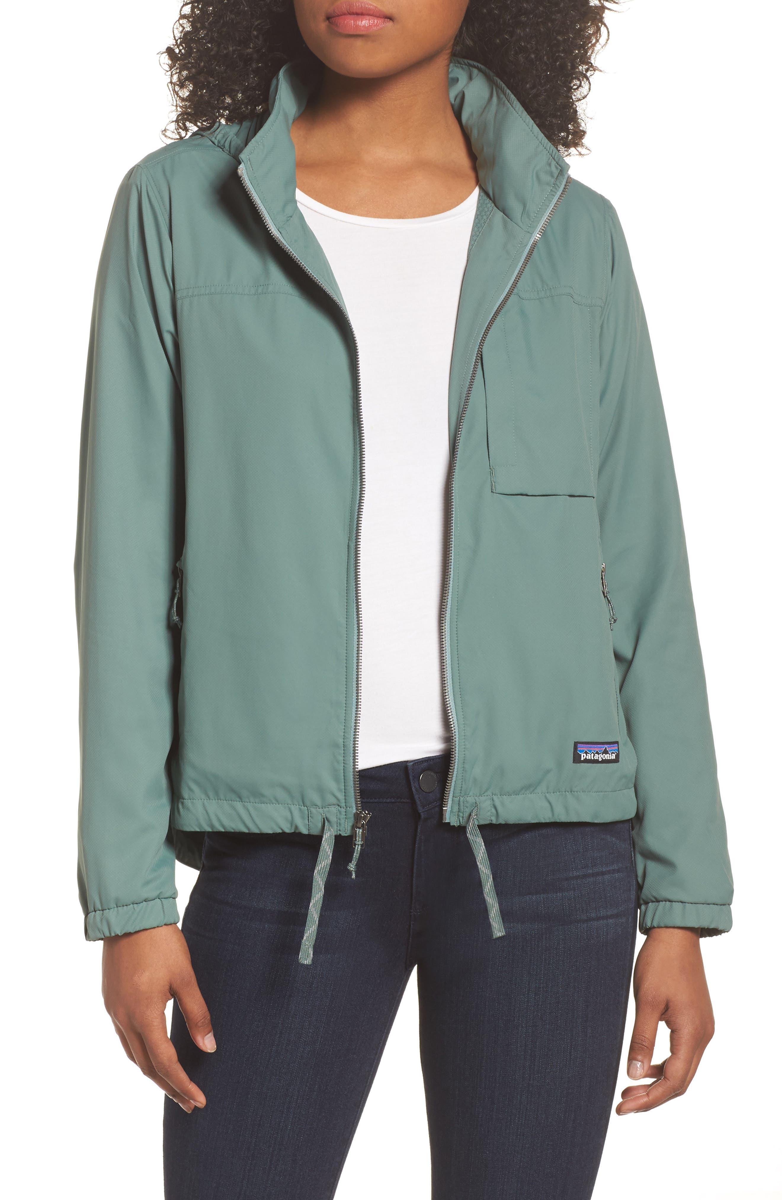 Mountain View Windbreaker Jacket,                         Main,                         color, Pesto
