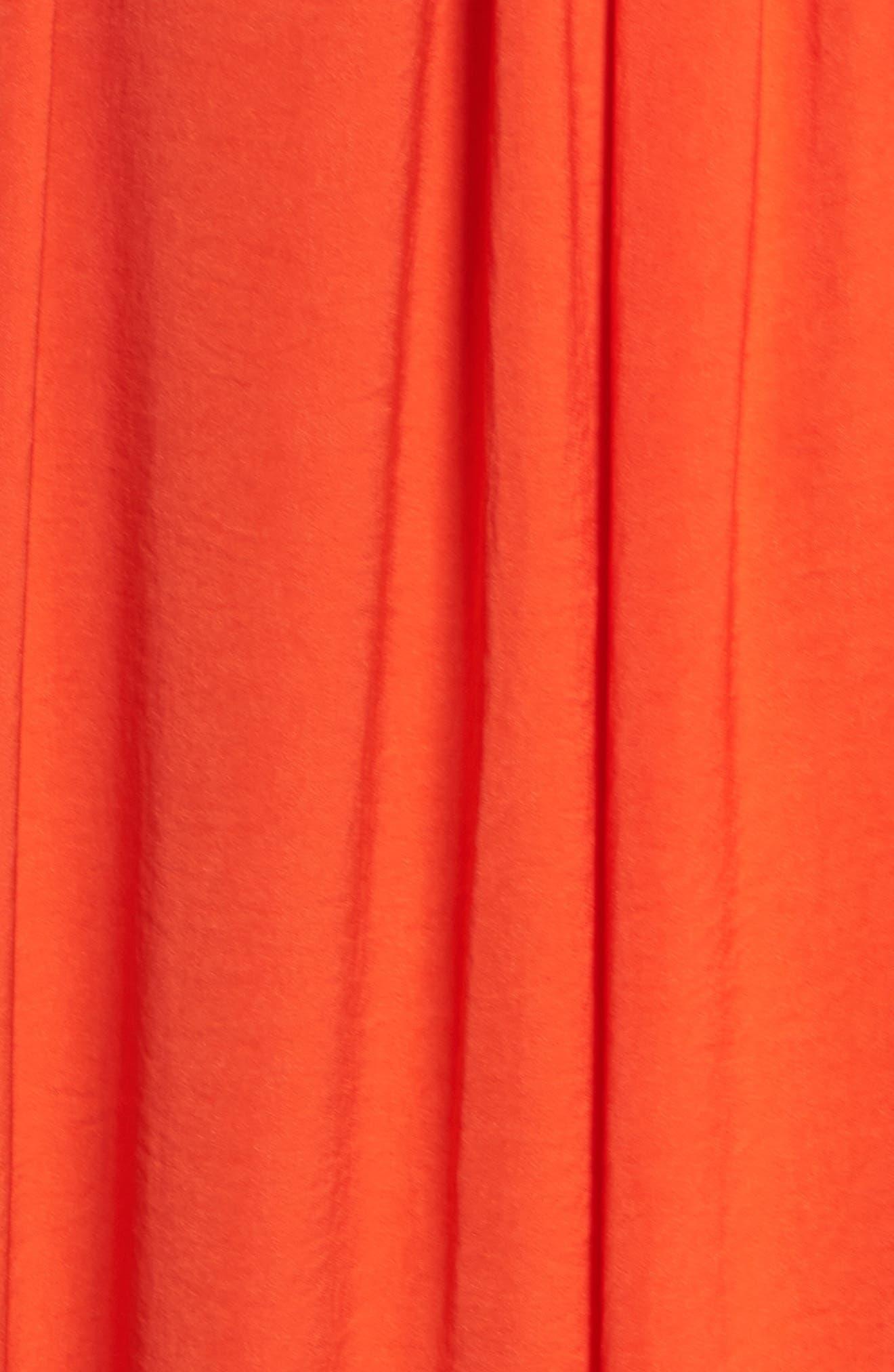 Yvonne Maxi Dress,                             Alternate thumbnail 6, color,                             Blood Orange