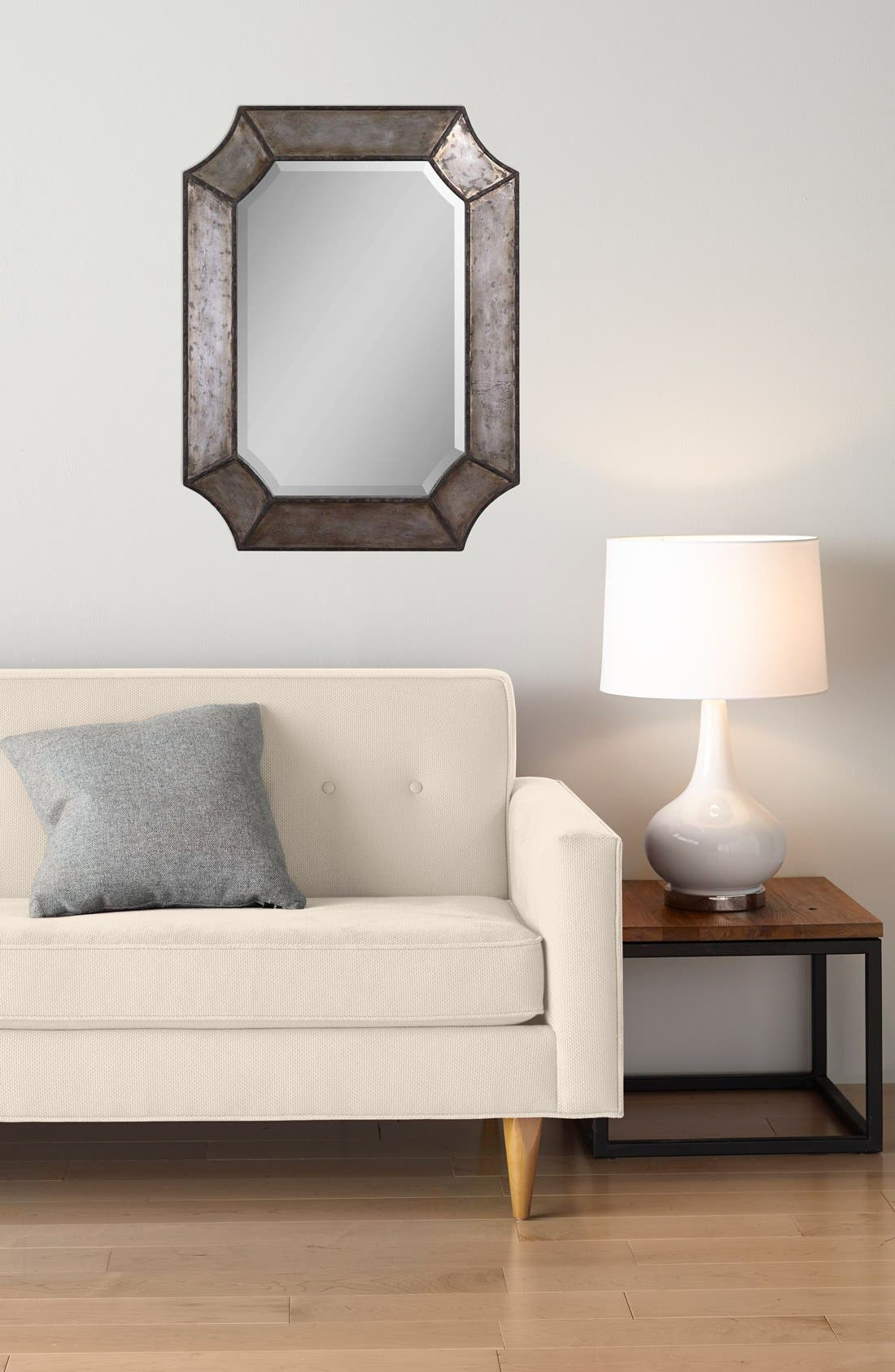 'Elliot' Distressed Mirror,                             Alternate thumbnail 2, color,                             Silver