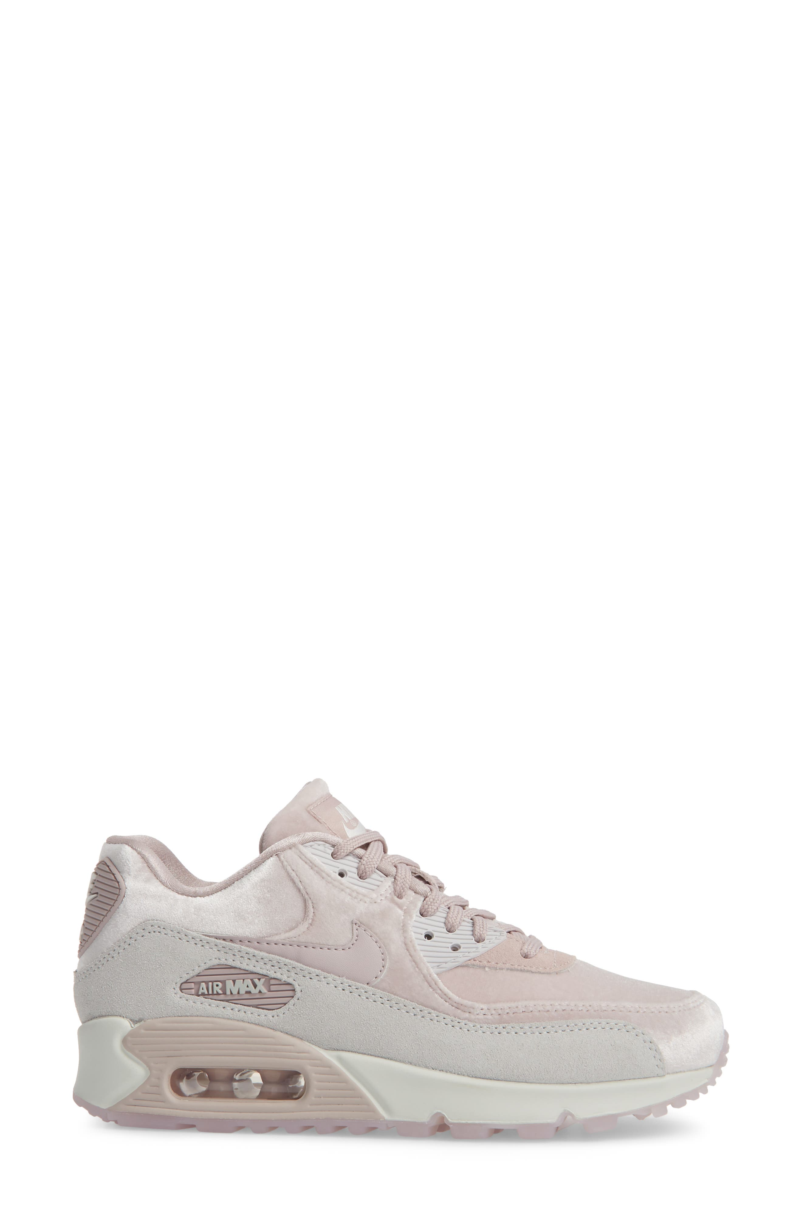 Air Max 90 LX Sneaker,                             Alternate thumbnail 3, color,                             Particle Rose/ Particle Rose