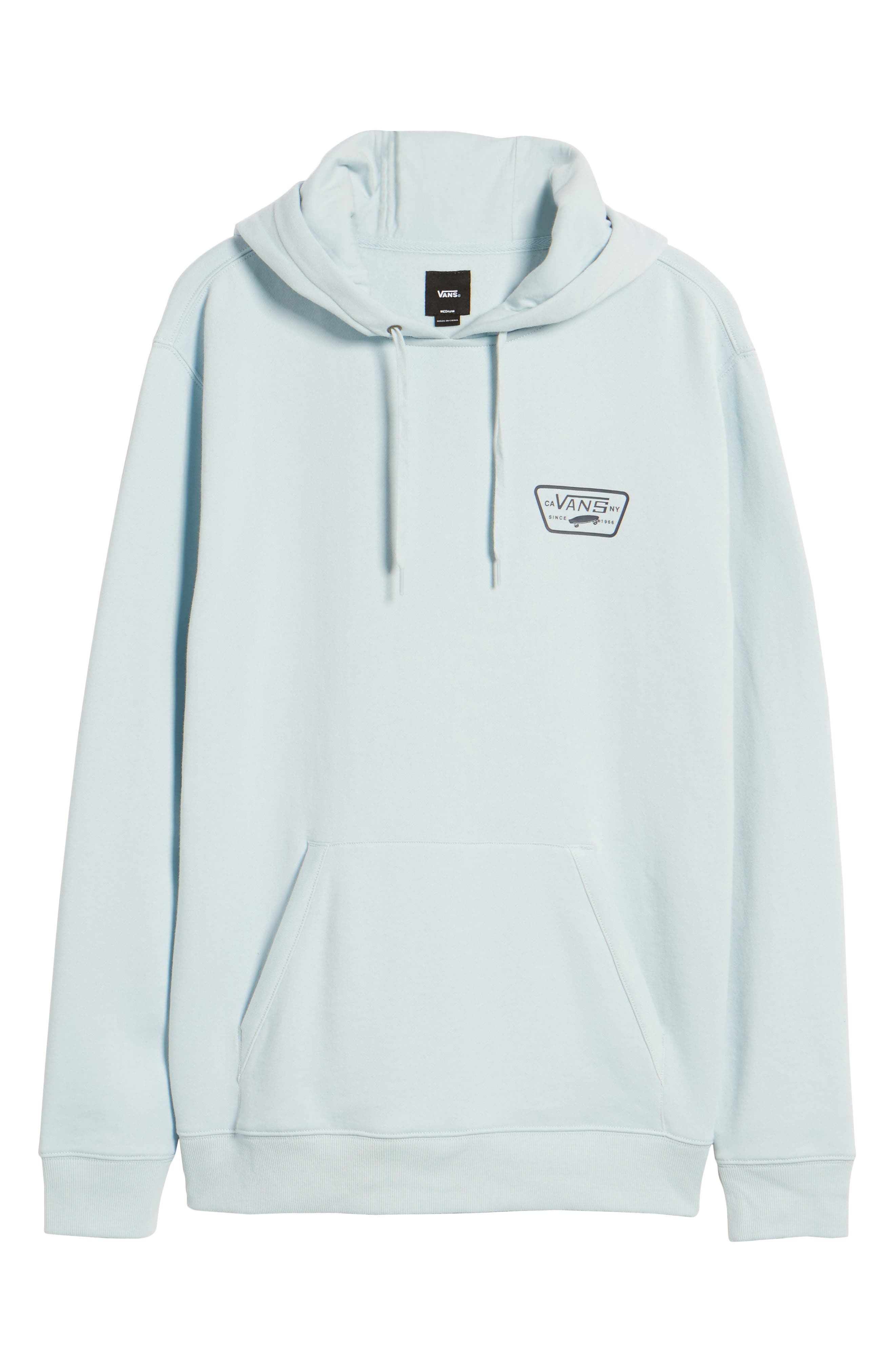 Full Patched Hoodie Sweatshirt,                             Alternate thumbnail 6, color,                             Baby Blue